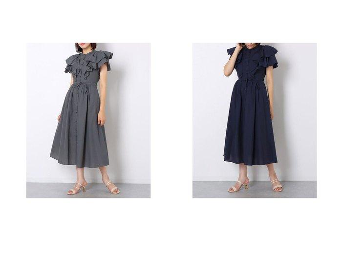 【JUSGLITTY/ジャスグリッティー】のボリュームフリルワンピース 【ワンピース・ドレス】おすすめ!人気、トレンド・レディースファッションの通販 おすすめ人気トレンドファッション通販アイテム 人気、トレンドファッション・服の通販 founy(ファニー) ファッション Fashion レディースファッション WOMEN ワンピース Dress 2021年 2021 2021-2022秋冬・A/W AW・Autumn/Winter・FW・Fall-Winter・2021-2022 A/W・秋冬 AW・Autumn/Winter・FW・Fall-Winter フリル フレア リボン |ID:crp329100000061184