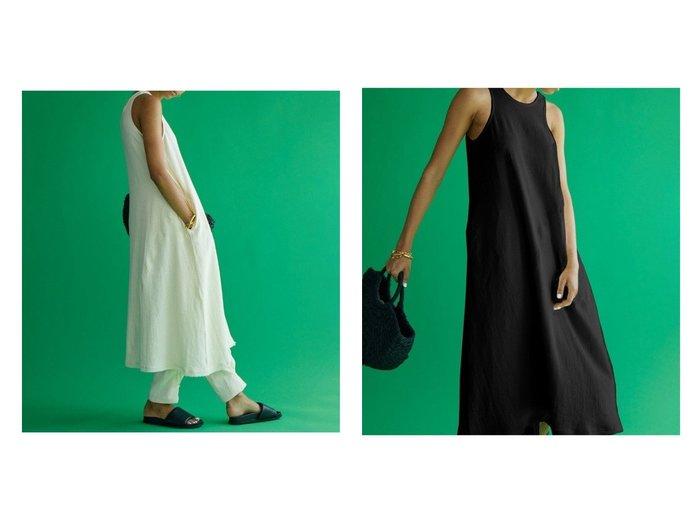 【Brown&Street/ブラウンアンドストリート】のリネンブレンドアメスリタンクワンピース 【ワンピース・ドレス】おすすめ!人気、トレンド・レディースファッションの通販 おすすめ人気トレンドファッション通販アイテム インテリア・キッズ・メンズ・レディースファッション・服の通販 founy(ファニー) https://founy.com/ ファッション Fashion レディースファッション WOMEN ワンピース Dress アメリカン カッティング シンプル ストレート スリーブ セットアップ タンク ノースリーブ フリンジ フロント リネン リラックス 夏 Summer |ID:crp329100000061191