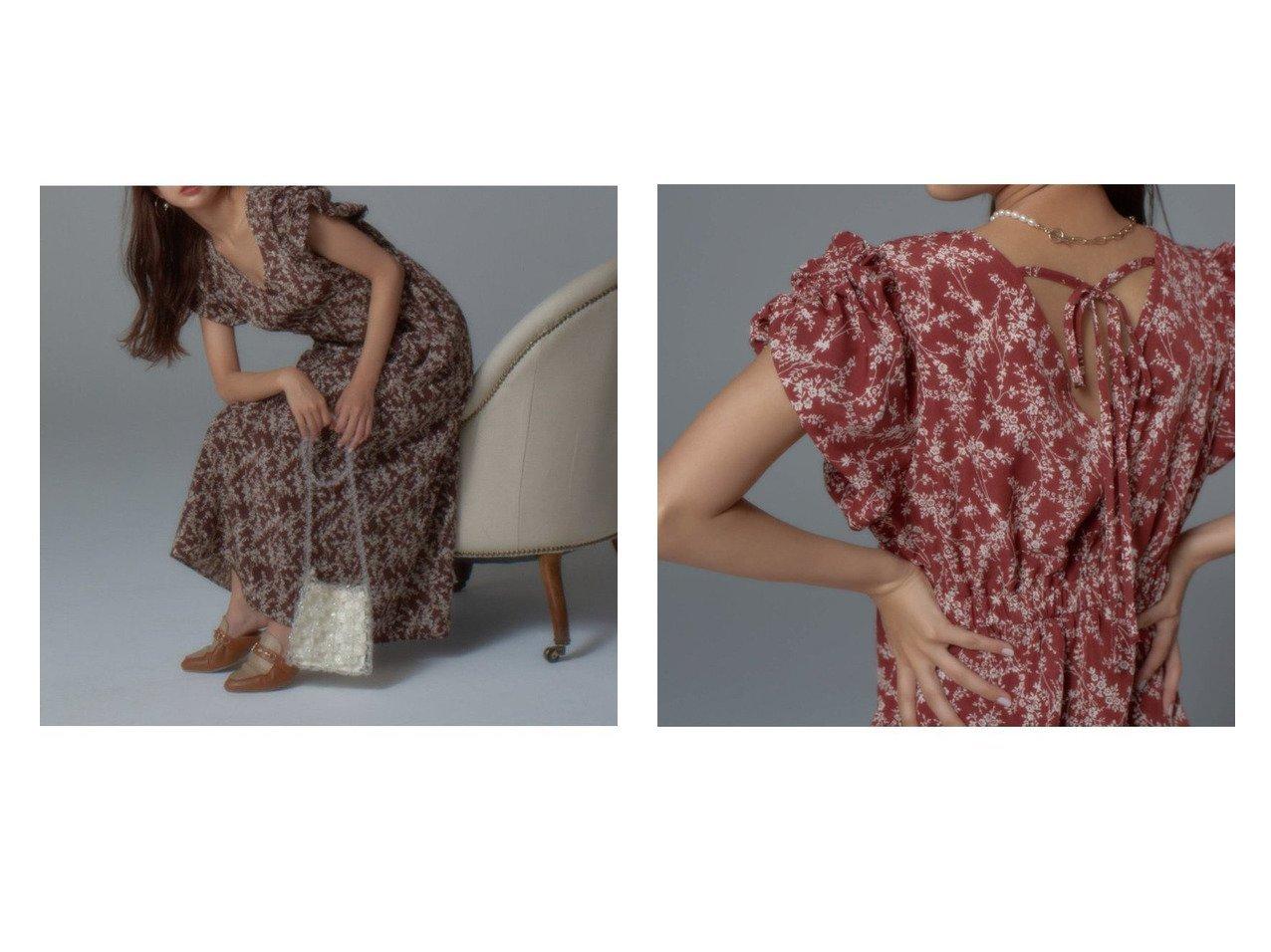 【Vis-a-Vis/ビザビ】の【vis- a-vis】バルーンギャザースリーブ花柄ワンピース おすすめ!人気、トレンド・レディースファッションの通販 おすすめで人気の流行・トレンド、ファッションの通販商品 インテリア・家具・メンズファッション・キッズファッション・レディースファッション・服の通販 founy(ファニー) https://founy.com/ ファッション Fashion レディースファッション WOMEN ワンピース Dress 春 Spring 秋 Autumn/Fall シェイプ シューズ ダウン デニム トレンド バルーン フィット フラワー プリント ベーシック ポケット おすすめ Recommend  ID:crp329100000061251