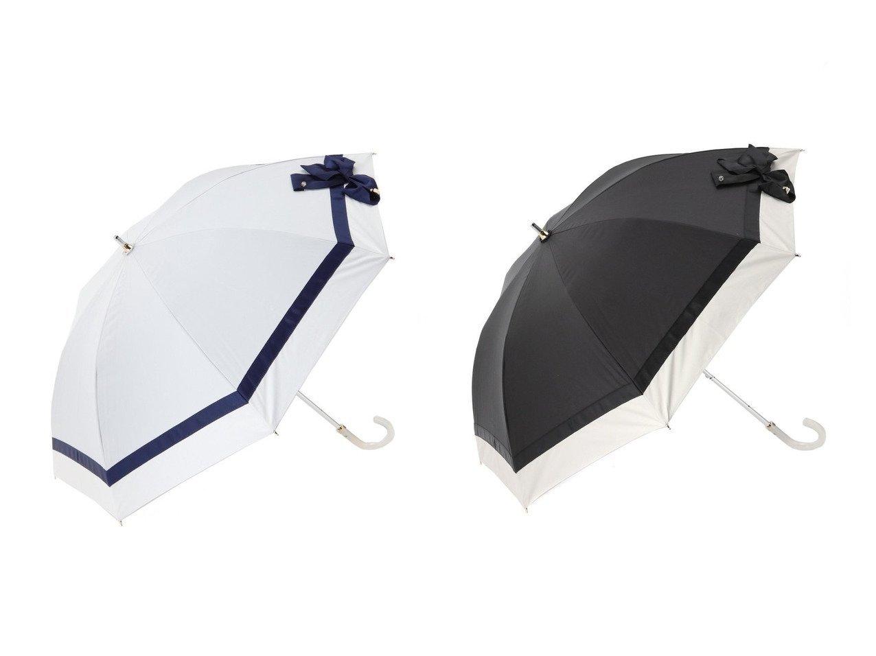 【LANVIN en Bleu/ランバン オン ブルー】の晴雨兼用長傘 切り継ぎビジューりぼん おすすめ!人気、トレンド・レディースファッションの通販 おすすめで人気の流行・トレンド、ファッションの通販商品 インテリア・家具・メンズファッション・キッズファッション・レディースファッション・服の通販 founy(ファニー) https://founy.com/ ファッション Fashion レディースファッション WOMEN 傘 / レイングッズ Umbrellas/Rainwear ビジュー フェミニン リボン 傘  ID:crp329100000061264
