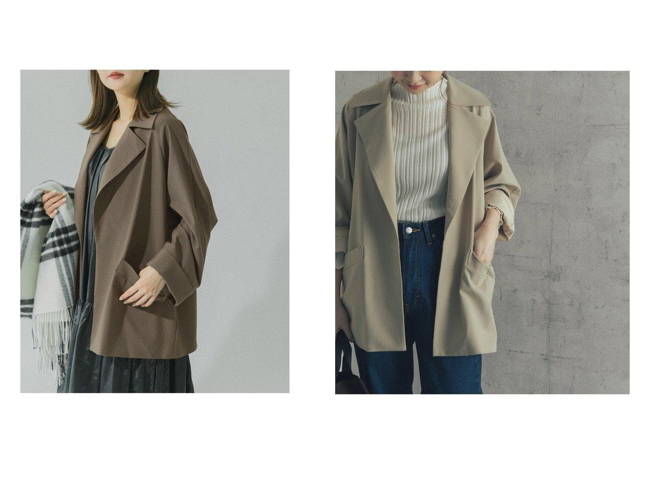 【URBAN RESEARCH ROSSO/アーバンリサーチ ロッソ】のオーバーサイズジャケットコート 【アウター】おすすめ!人気、トレンド・レディースファッションの通販 おすすめで人気の流行・トレンド、ファッションの通販商品 インテリア・家具・メンズファッション・キッズファッション・レディースファッション・服の通販 founy(ファニー) https://founy.com/ ファッション Fashion レディースファッション WOMEN アウター Coat Outerwear コート Coats ジャケット Jackets NEW・新作・新着・新入荷 New Arrivals おすすめ Recommend シンプル ジャケット ボトム ロング 再入荷 Restock/Back in Stock/Re Arrival |ID:crp329100000061328