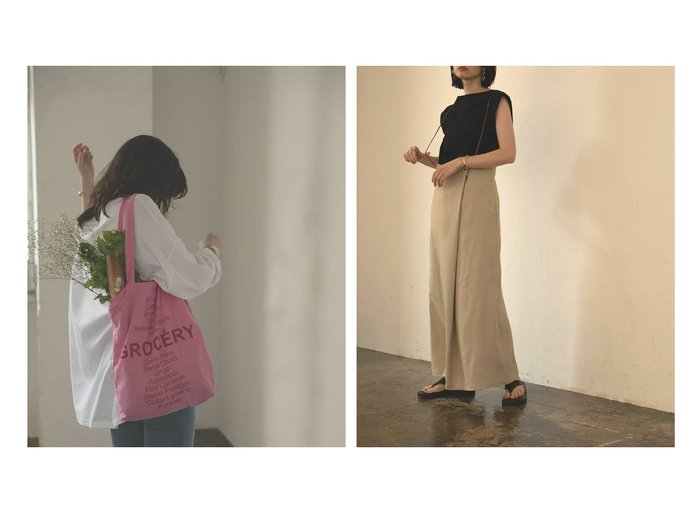 【marjour/マージュール】のCODE SUSPENDERS WRAP SKIRT Pt.15%&グローサリーエコバッグ GROCERY BAG Pt.15% おすすめ!人気、トレンド・レディースファッションの通販 おすすめ人気トレンドファッション通販アイテム 人気、トレンドファッション・服の通販 founy(ファニー) ファッション Fashion レディースファッション WOMEN スカート Skirt |ID:crp329100000061614