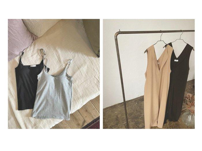【marjour/マージュール】のSLEEVELESS PANTS ONEPIECE Pt.15%&ディープカップキャミソール DEEP V CUP CAMISOLE Pt.15% おすすめ!人気、トレンド・レディースファッションの通販 おすすめ人気トレンドファッション通販アイテム 人気、トレンドファッション・服の通販 founy(ファニー) ファッション Fashion レディースファッション WOMEN トップス・カットソー Tops/Tshirt キャミソール / ノースリーブ No Sleeves パンツ Pants |ID:crp329100000061615