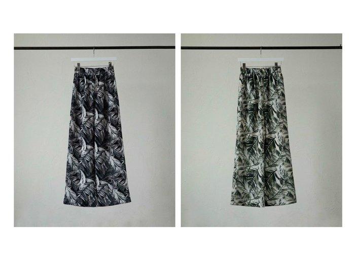 【marjour/マージュール】のボタニカルプリントパンツ BOTANICAL PRINT PANTS Pt.15% おすすめ!人気、トレンド・レディースファッションの通販 おすすめ人気トレンドファッション通販アイテム 人気、トレンドファッション・服の通販 founy(ファニー) ファッション Fashion レディースファッション WOMEN パンツ Pants |ID:crp329100000061616