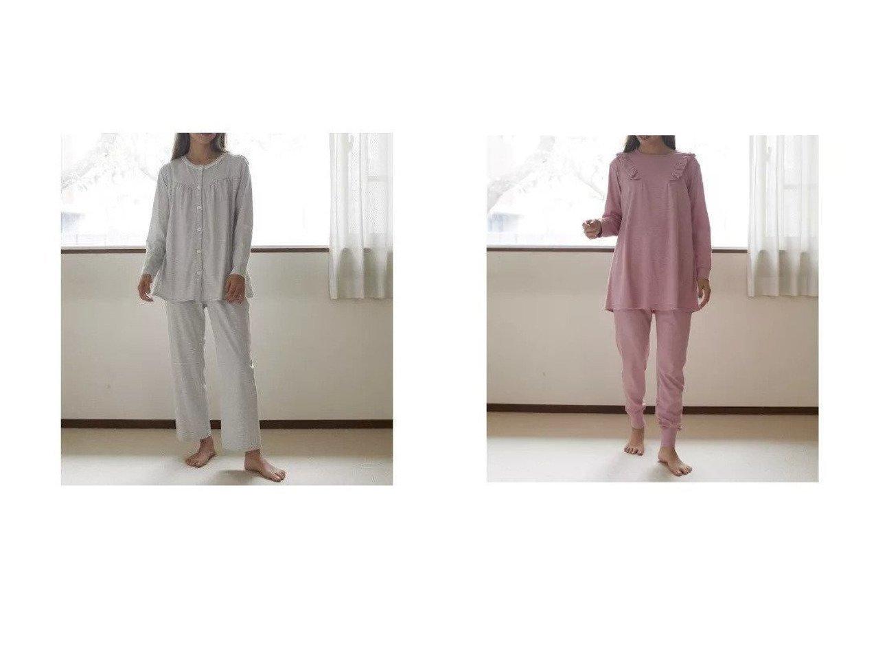 【nanadecor/ナナデコール】のフェンネルパジャマ 上下セット&カトレアスムースパジャマ おすすめ!人気、トレンド・レディースファッションの通販 おすすめで人気の流行・トレンド、ファッションの通販商品 インテリア・家具・メンズファッション・キッズファッション・レディースファッション・服の通販 founy(ファニー) https://founy.com/ ファッション Fashion レディースファッション WOMEN アンダー カットソー ギャザー パジャマ ベーシック レース フリル  ID:crp329100000061663