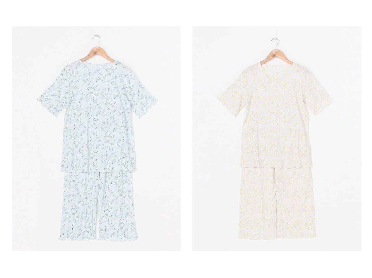 【KID BLUE/キッドブルー】のリブプチフラワーPt おすすめ!人気、トレンド・レディースファッションの通販 おすすめで人気の流行・トレンド、ファッションの通販商品 インテリア・家具・メンズファッション・キッズファッション・レディースファッション・服の通販 founy(ファニー) https://founy.com/ ファッション Fashion レディースファッション WOMEN パンツ Pants おすすめ Recommend インナー ストレッチ パジャマ プリント ボトム 人気 |ID:crp329100000061685