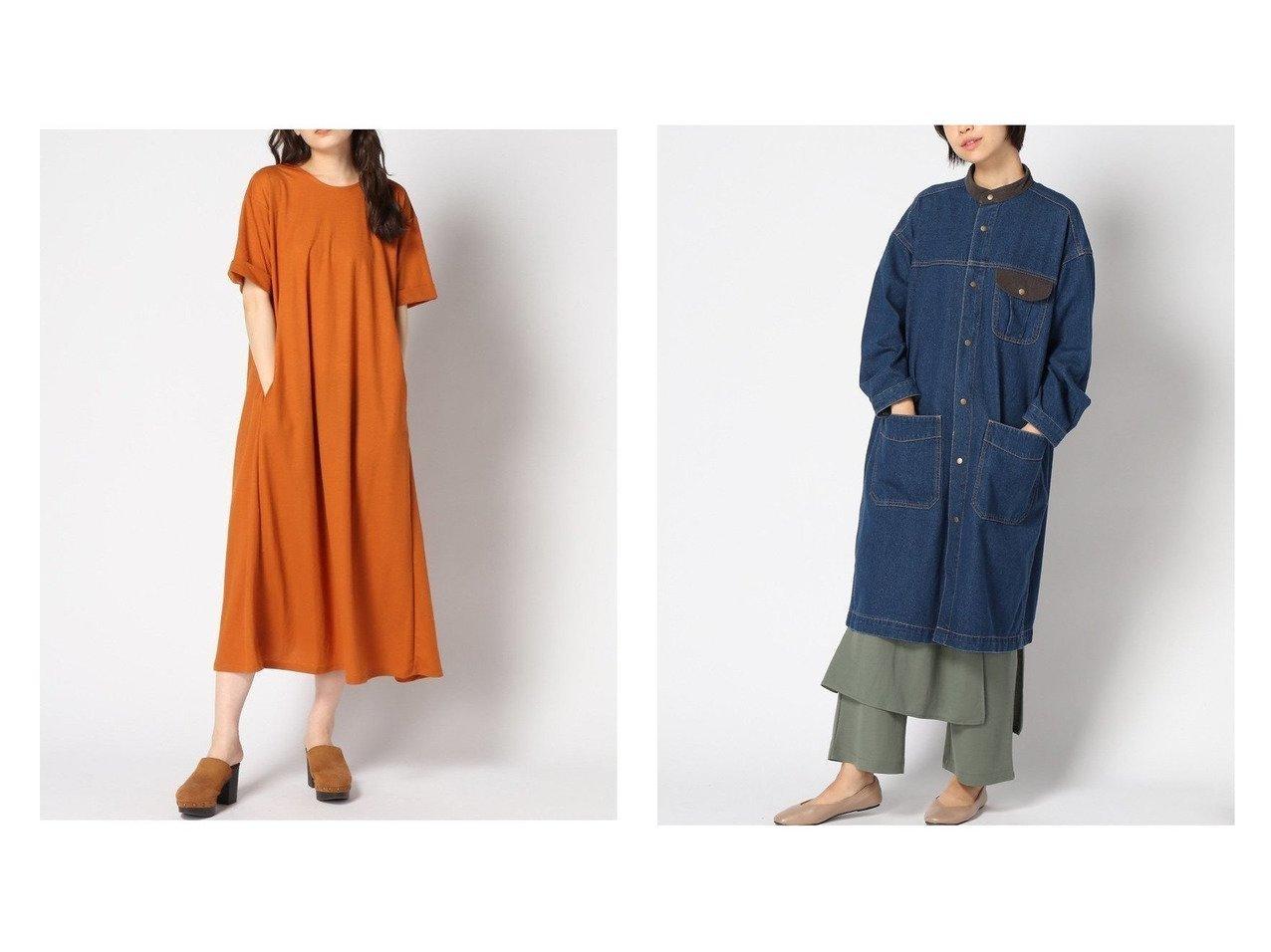 【niko and…/ニコアンド】のSTANDネックWORKコート&AラインユルキレイカットOP おすすめ!人気、トレンド・レディースファッションの通販 おすすめで人気の流行・トレンド、ファッションの通販商品 インテリア・家具・メンズファッション・キッズファッション・レディースファッション・服の通販 founy(ファニー) https://founy.com/ ファッション Fashion レディースファッション WOMEN ワンピース Dress アウター Coat Outerwear コート Coats ジャケット Jackets デニムジャケット Denim Jackets NEW・新作・新着・新入荷 New Arrivals アクセサリー インナー シンプル ロング 半袖 おすすめ Recommend ジャケット スタンド セットアップ デニム |ID:crp329100000061928