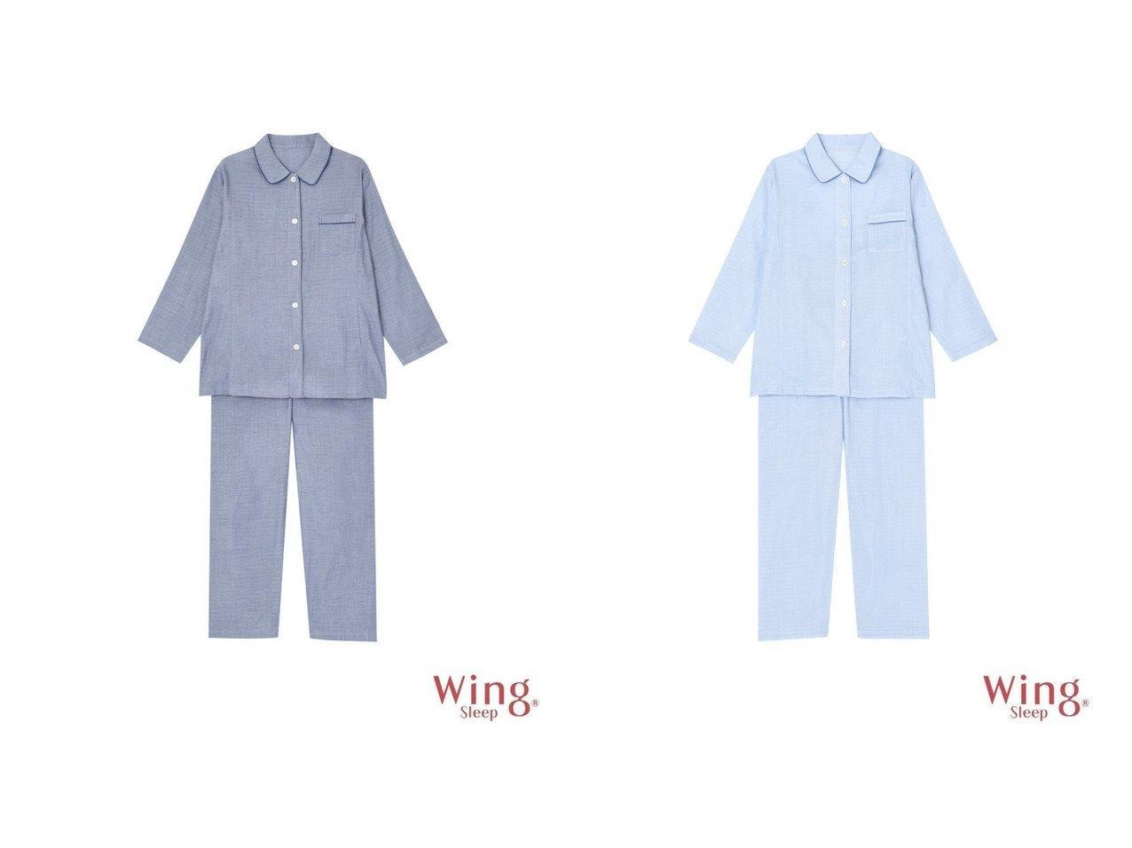 【Wing Sleep/ウイングスリープ】のウイング パジャマ 霜降り調 ロング袖・ロングパンツ おすすめ!人気、トレンド・レディースファッションの通販 おすすめで人気の流行・トレンド、ファッションの通販商品 インテリア・家具・メンズファッション・キッズファッション・レディースファッション・服の通販 founy(ファニー) https://founy.com/ ファッション Fashion レディースファッション WOMEN パンツ Pants なめらか インナー シンプル パジャマ ロング 巾着 |ID:crp329100000061963