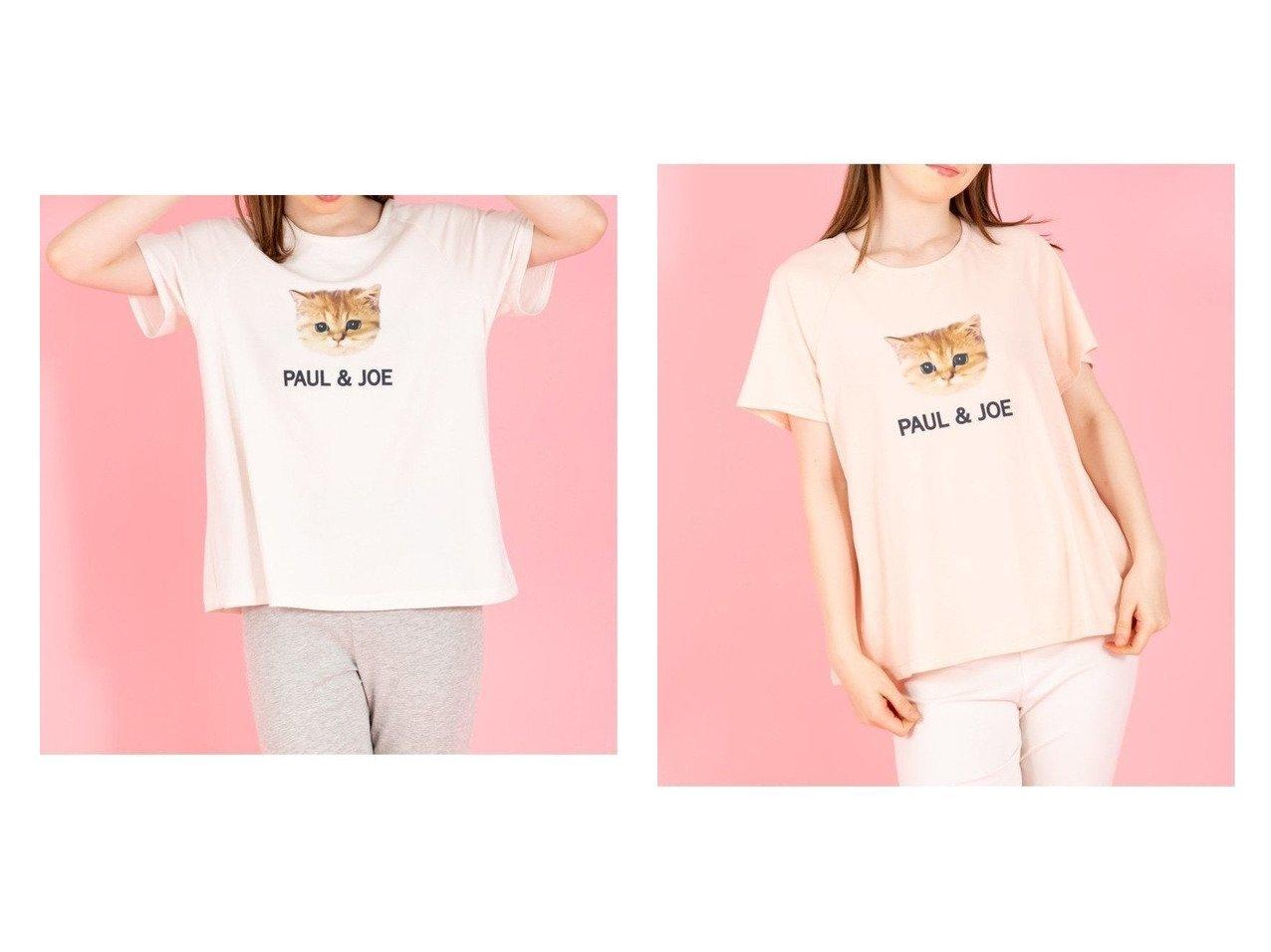 【PAUL & JOE/ポール & ジョー】のヌネット ロゴ Tシャツ キュートなヌネットにみつめられたい! おすすめ!人気、トレンド・レディースファッションの通販 おすすめで人気の流行・トレンド、ファッションの通販商品 インテリア・家具・メンズファッション・キッズファッション・レディースファッション・服の通販 founy(ファニー) https://founy.com/ ファッション Fashion レディースファッション WOMEN トップス・カットソー Tops/Tshirt シャツ/ブラウス Shirts/Blouses ロング / Tシャツ T-Shirts カットソー Cut and Sewn カットソー シンプル プリント ボトム 定番 Standard |ID:crp329100000061967