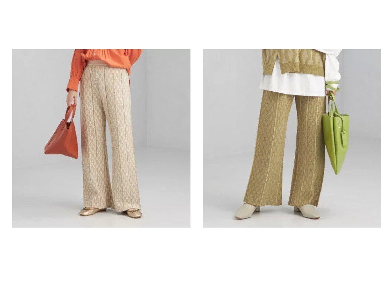 【green label relaxing / UNITED ARROWS/グリーンレーベル リラクシング / ユナイテッドアローズ】のジャカード プリーツ ニット パンツ 【パンツ】おすすめ!人気、トレンド・レディースファッションの通販  おすすめで人気の流行・トレンド、ファッションの通販商品 インテリア・家具・メンズファッション・キッズファッション・レディースファッション・服の通販 founy(ファニー) https://founy.com/ ファッション Fashion レディースファッション WOMEN パンツ Pants シューズ ジャカード プリーツ ベスト リラックス  ID:crp329100000062127