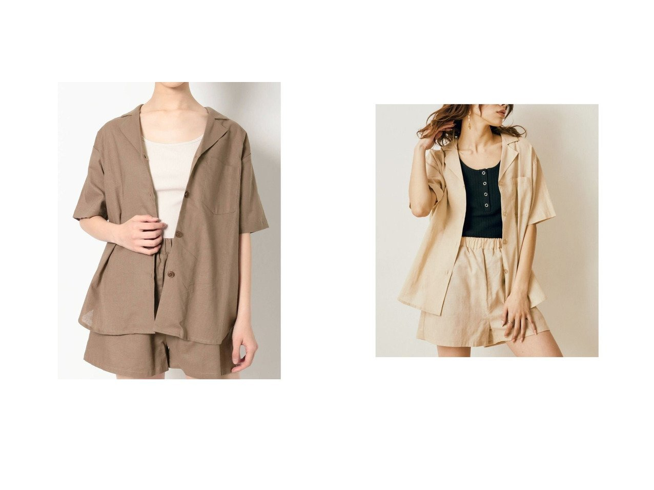【EVRIS/エヴリス】のEVRIS リネンブレンドオープンカラーシャツ おすすめ!人気、トレンド・レディースファッションの通販  おすすめで人気の流行・トレンド、ファッションの通販商品 インテリア・家具・メンズファッション・キッズファッション・レディースファッション・服の通販 founy(ファニー) https://founy.com/ ファッション Fashion レディースファッション WOMEN トップス・カットソー Tops/Tshirt シャツ/ブラウス Shirts/Blouses 2021年 2021 2021-2022秋冬・A/W AW・Autumn/Winter・FW・Fall-Winter・2021-2022 A/W・秋冬 AW・Autumn/Winter・FW・Fall-Winter おすすめ Recommend ショート セットアップ タンク リネン 夏 Summer  ID:crp329100000062185