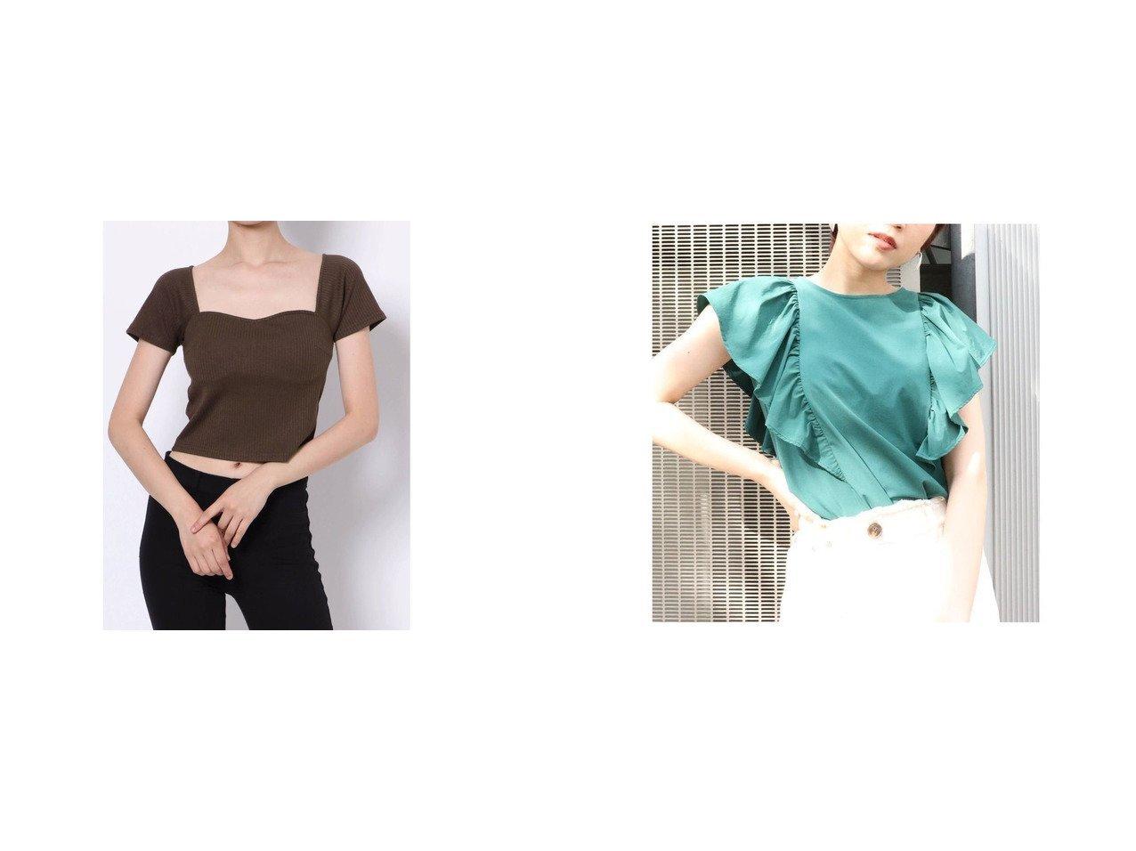 【EVRIS/エヴリス】のEVRIS イレギュラーネックショートトップス&【MURUA/ムルーア】のMURUA オーバーラッフルブラウス おすすめ!人気、トレンド・レディースファッションの通販  おすすめで人気の流行・トレンド、ファッションの通販商品 インテリア・家具・メンズファッション・キッズファッション・レディースファッション・服の通販 founy(ファニー) https://founy.com/ ファッション Fashion レディースファッション WOMEN トップス・カットソー Tops/Tshirt シャツ/ブラウス Shirts/Blouses 2021年 2021 2021-2022秋冬・A/W AW・Autumn/Winter・FW・Fall-Winter・2021-2022 A/W・秋冬 AW・Autumn/Winter・FW・Fall-Winter デコルテ トレンド ビスチェ ボトム ワイド S/S・春夏 SS・Spring/Summer おすすめ Recommend デニム フリル 夏 Summer 春 Spring  ID:crp329100000062187