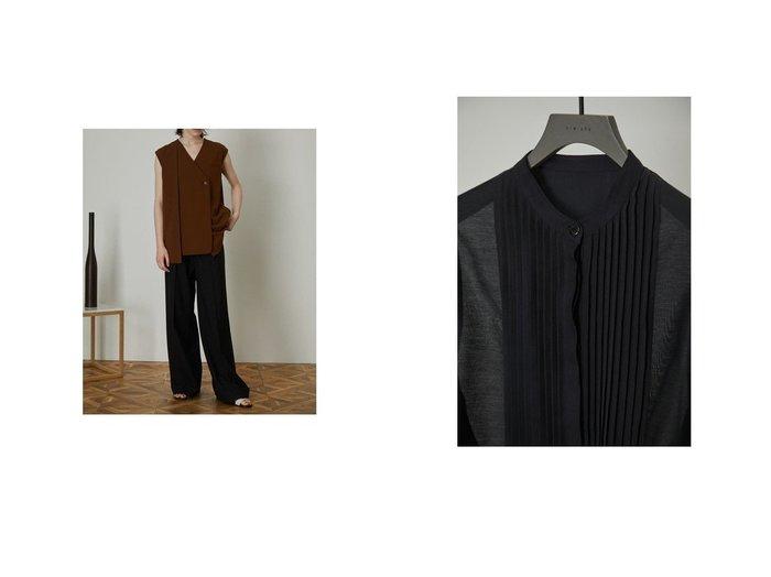 【RIM.ARK/リムアーク】のFront tuck box vest&Sheer sleeve pintuck SH おすすめ!人気、トレンド・レディースファッションの通販  おすすめ人気トレンドファッション通販アイテム インテリア・キッズ・メンズ・レディースファッション・服の通販 founy(ファニー) https://founy.com/ ファッション Fashion レディースファッション WOMEN アウター Coat Outerwear トップス・カットソー Tops/Tshirt ベスト/ジレ Gilets/Vests 2021年 2021 2021-2022秋冬・A/W AW・Autumn/Winter・FW・Fall-Winter・2021-2022 A/W・秋冬 AW・Autumn/Winter・FW・Fall-Winter アシンメトリー ベスト ボックス メランジ スリーブ バランス |ID:crp329100000062195