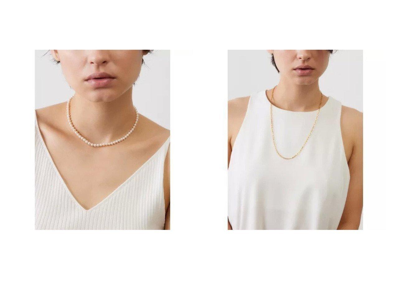 【MARIHA/マリハ】の月の夢ネックレスS_37cm&Silent Rain ロングレクタングルチェーンネックレス_60cm おすすめ!人気、トレンド・レディースファッションの通販  おすすめで人気の流行・トレンド、ファッションの通販商品 インテリア・家具・メンズファッション・キッズファッション・レディースファッション・服の通販 founy(ファニー) https://founy.com/ ファッション Fashion レディースファッション WOMEN ジュエリー Jewelry ネックレス Necklaces アクセサリー シルバー ジュエリー ネックレス パール クール コレクション チェーン バランス フェミニン モチーフ |ID:crp329100000062221