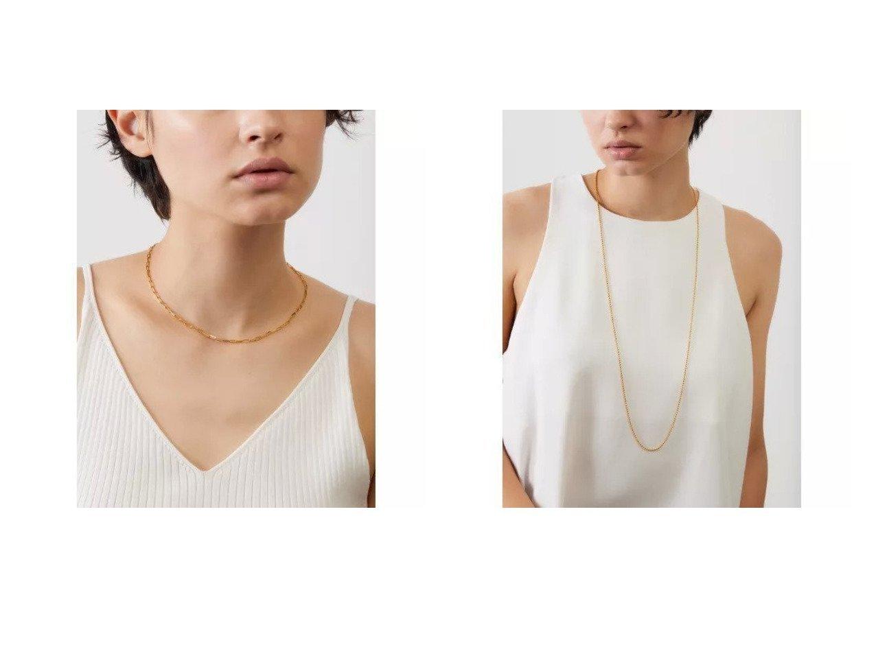 【MARIHA/マリハ】のSilent Rain ロングレクタングルチェーンネックレス_40cm&Silent Rain スモールボールチェーンネックレス_90cm おすすめ!人気、トレンド・レディースファッションの通販  おすすめで人気の流行・トレンド、ファッションの通販商品 インテリア・家具・メンズファッション・キッズファッション・レディースファッション・服の通販 founy(ファニー) https://founy.com/ ファッション Fashion レディースファッション WOMEN ジュエリー Jewelry ネックレス Necklaces アクセサリー クール コレクション シルバー ジュエリー チェーン ネックレス バランス フェミニン モチーフ  ID:crp329100000062222