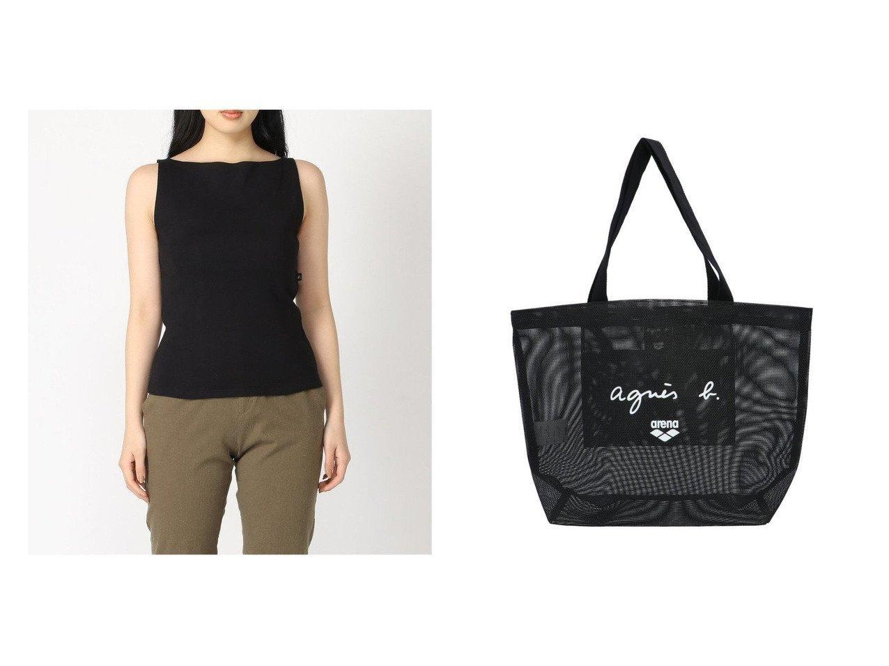 【agnes b. FEMME/アニエスベー ファム】のagnes b.JG13 タンクトップ&agnes b.KG19 バッグ おすすめ!人気、トレンド・レディースファッションの通販  おすすめで人気の流行・トレンド、ファッションの通販商品 インテリア・家具・メンズファッション・キッズファッション・レディースファッション・服の通販 founy(ファニー) https://founy.com/ ファッション Fashion レディースファッション WOMEN トップス・カットソー Tops/Tshirt カットソー Cut and Sewn バッグ Bag インナー カットソー シンプル タンク 定番 Standard ウォーター キャラクター スポーツ タオル フランス フロント プリント メッシュ 水着  ID:crp329100000062230