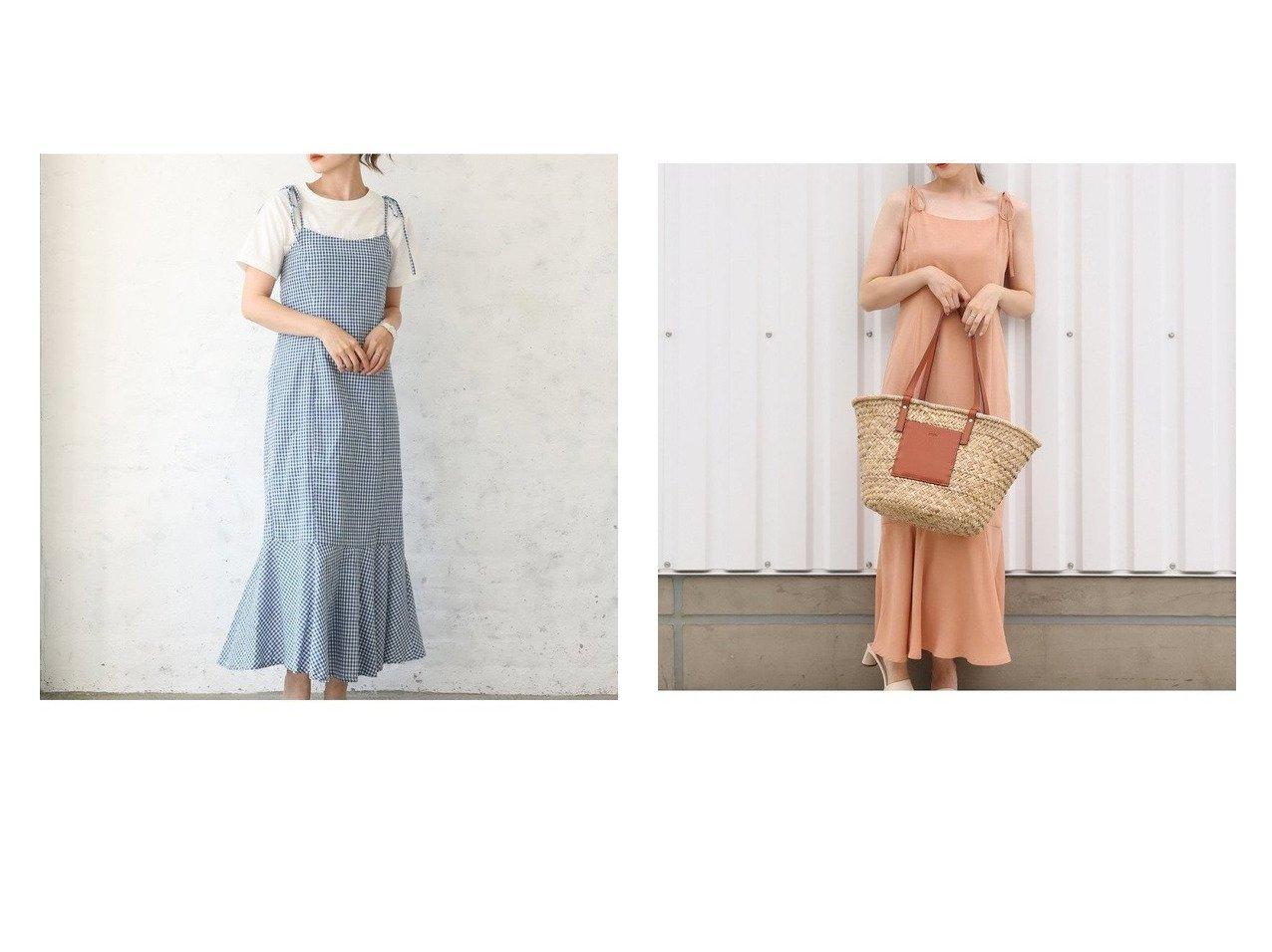 【NICE CLAUP/ナイスクラップ】の【web限定】リボンキャミワンピース おすすめ!人気、トレンド・レディースファッションの通販  おすすめで人気の流行・トレンド、ファッションの通販商品 インテリア・家具・メンズファッション・キッズファッション・レディースファッション・服の通販 founy(ファニー) https://founy.com/ ファッション Fashion レディースファッション WOMEN ワンピース Dress キャミワンピース No Sleeve Dresses おすすめ Recommend キャミワンピース ジャケット リボン 夏 Summer |ID:crp329100000062250