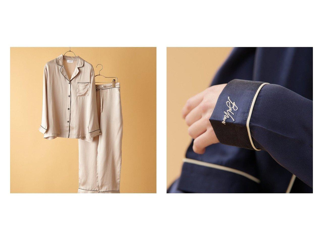 【TERRITOIRE/テリトワール】の【Belheur ベルヌール】LADIESシルク100%パジャマ 上下セット おすすめ!人気、トレンド・レディースファッションの通販  おすすめで人気の流行・トレンド、ファッションの通販商品 インテリア・家具・メンズファッション・キッズファッション・レディースファッション・服の通販 founy(ファニー) https://founy.com/ ファッション Fashion レディースファッション WOMEN アウター Coat Outerwear コート Coats ジャケット Jackets カシミア カフス 巾着 シルク ジャケット セットアップ 定番 Standard 人気 パジャマ ポケット メンズ ラグジュアリー 冬 Winter 2021年 2021 2021春夏・S/S SS/Spring/Summer/2021 お家時間・ステイホーム Home Time/Stay Home 夏 Summer |ID:crp329100000062255