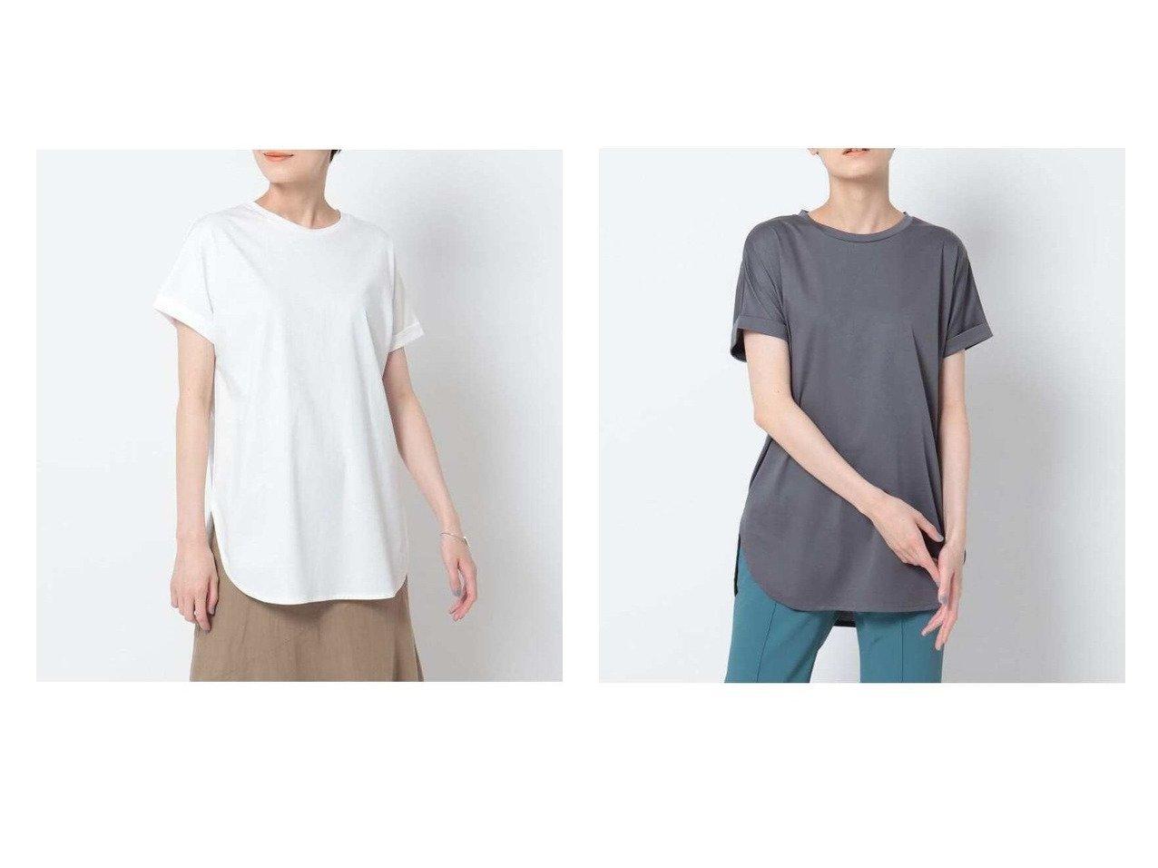 【INDIVI/インディヴィ】の【洗える/接触冷感】コットン ロールスリーブベーシックTシャツ おすすめ!人気、トレンド・レディースファッションの通販  おすすめで人気の流行・トレンド、ファッションの通販商品 インテリア・家具・メンズファッション・キッズファッション・レディースファッション・服の通販 founy(ファニー) https://founy.com/ ファッション Fashion レディースファッション WOMEN トップス・カットソー Tops/Tshirt シャツ/ブラウス Shirts/Blouses ロング / Tシャツ T-Shirts カットソー Cut and Sewn カットソー シンプル ジャケット ジャージ テーパード トレンド バランス フレア ベーシック ラウンド ロールアップ ワイド 洗える  ID:crp329100000062276