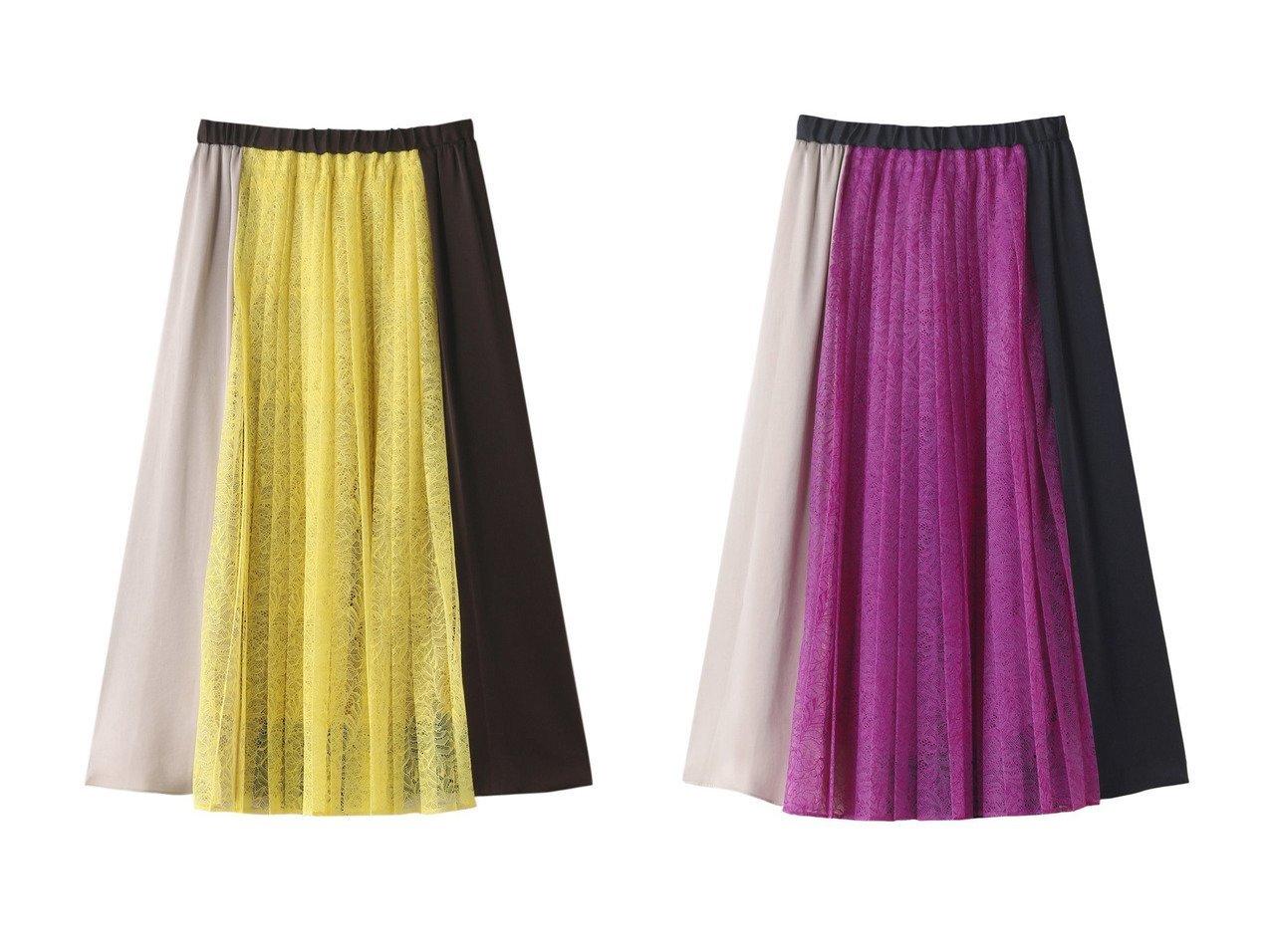【DESIGN WORKS/デザイン ワークス】のレース×サテン配色スカート 【スカート】おすすめ!人気、トレンド・レディースファッションの通販  おすすめで人気の流行・トレンド、ファッションの通販商品 インテリア・家具・メンズファッション・キッズファッション・レディースファッション・服の通販 founy(ファニー) https://founy.com/ ファッション Fashion レディースファッション WOMEN スカート Skirt 2020年 2020 2020-2021秋冬・A/W AW・Autumn/Winter・FW・Fall-Winter/2020-2021 2021年 2021 2021-2022秋冬・A/W AW・Autumn/Winter・FW・Fall-Winter・2021-2022 A/W・秋冬 AW・Autumn/Winter・FW・Fall-Winter サテン レース  ID:crp329100000062286