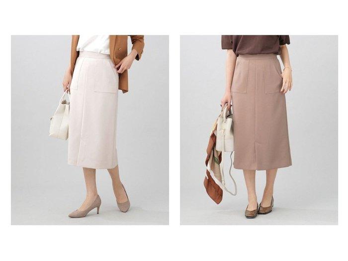 【nano universe/ナノ ユニバース】のWEB限定/スリットタイトスカート 【スカート】おすすめ!人気、トレンド・レディースファッションの通販  おすすめ人気トレンドファッション通販アイテム 人気、トレンドファッション・服の通販 founy(ファニー) ファッション Fashion レディースファッション WOMEN スカート Skirt スリット フロント おすすめ Recommend |ID:crp329100000062288