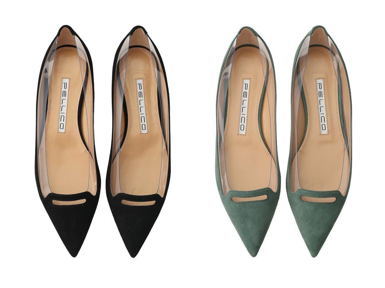 【heliopole/エリオポール】の【PELLICO】PVCポインテッドフラットパンプス 【シューズ・靴】おすすめ!人気、トレンド・レディースファッションの通販  おすすめで人気の流行・トレンド、ファッションの通販商品 インテリア・家具・メンズファッション・キッズファッション・レディースファッション・服の通販 founy(ファニー) https://founy.com/ ファッション Fashion レディースファッション WOMEN イタリア エレガント コンビ シューズ シンプル スエード フラット ベーシック |ID:crp329100000062297