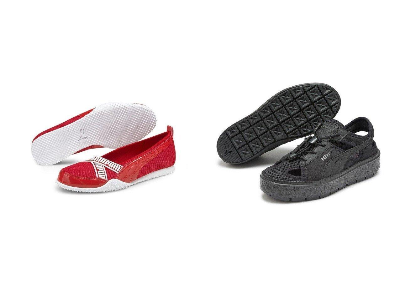 【emmi/エミ】の【PUMA】Platform Trace Lite mules&【PUMA/プーマ】のプーマ ベラ バレリーナ P ウィメンズ スニーカー 【シューズ・靴】おすすめ!人気、トレンド・レディースファッションの通販  おすすめで人気の流行・トレンド、ファッションの通販商品 インテリア・家具・メンズファッション・キッズファッション・レディースファッション・服の通販 founy(ファニー) https://founy.com/ ファッション Fashion レディースファッション WOMEN 2021年 2021 2021春夏・S/S SS/Spring/Summer/2021 S/S・春夏 SS・Spring/Summer インソール エレガント クッション シューズ スニーカー スポーティ スリッポン スリム フィット メッシュ ラップ 夏 Summer 春 Spring サンダル フォーム ミュール ランニング レース 軽量 |ID:crp329100000062309