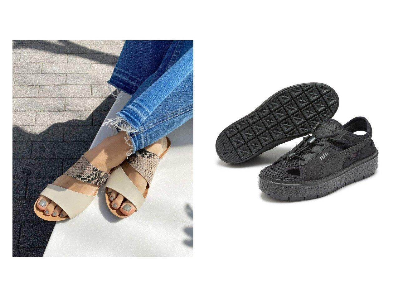 【emmi/エミ】の【PUMA】Platform Trace Lite mules&【JOURNAL STANDARD relume/ジャーナルスタンダード レリューム】の【プラクトン】 2ストラップサンダル 【シューズ・靴】おすすめ!人気、トレンド・レディースファッションの通販  おすすめで人気の流行・トレンド、ファッションの通販商品 インテリア・家具・メンズファッション・キッズファッション・レディースファッション・服の通販 founy(ファニー) https://founy.com/ ファッション Fashion レディースファッション WOMEN 2021年 2021 2021春夏・S/S SS/Spring/Summer/2021 S/S・春夏 SS・Spring/Summer サンダル シューズ ストラップサンダル ミュール フィット フォーム メッシュ ランニング レース 軽量 |ID:crp329100000062310