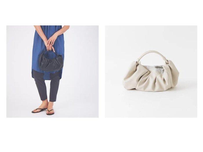 【qualite/カリテ】の【ADD CULUMN】CHAOZ ハンドバッグ 【バッグ・鞄】おすすめ!人気、トレンド・レディースファッションの通販  おすすめ人気トレンドファッション通販アイテム インテリア・キッズ・メンズ・レディースファッション・服の通販 founy(ファニー) https://founy.com/ ファッション Fashion レディースファッション WOMEN バッグ Bag ギャザー ハンドバッグ フォルム ベーシック |ID:crp329100000062325