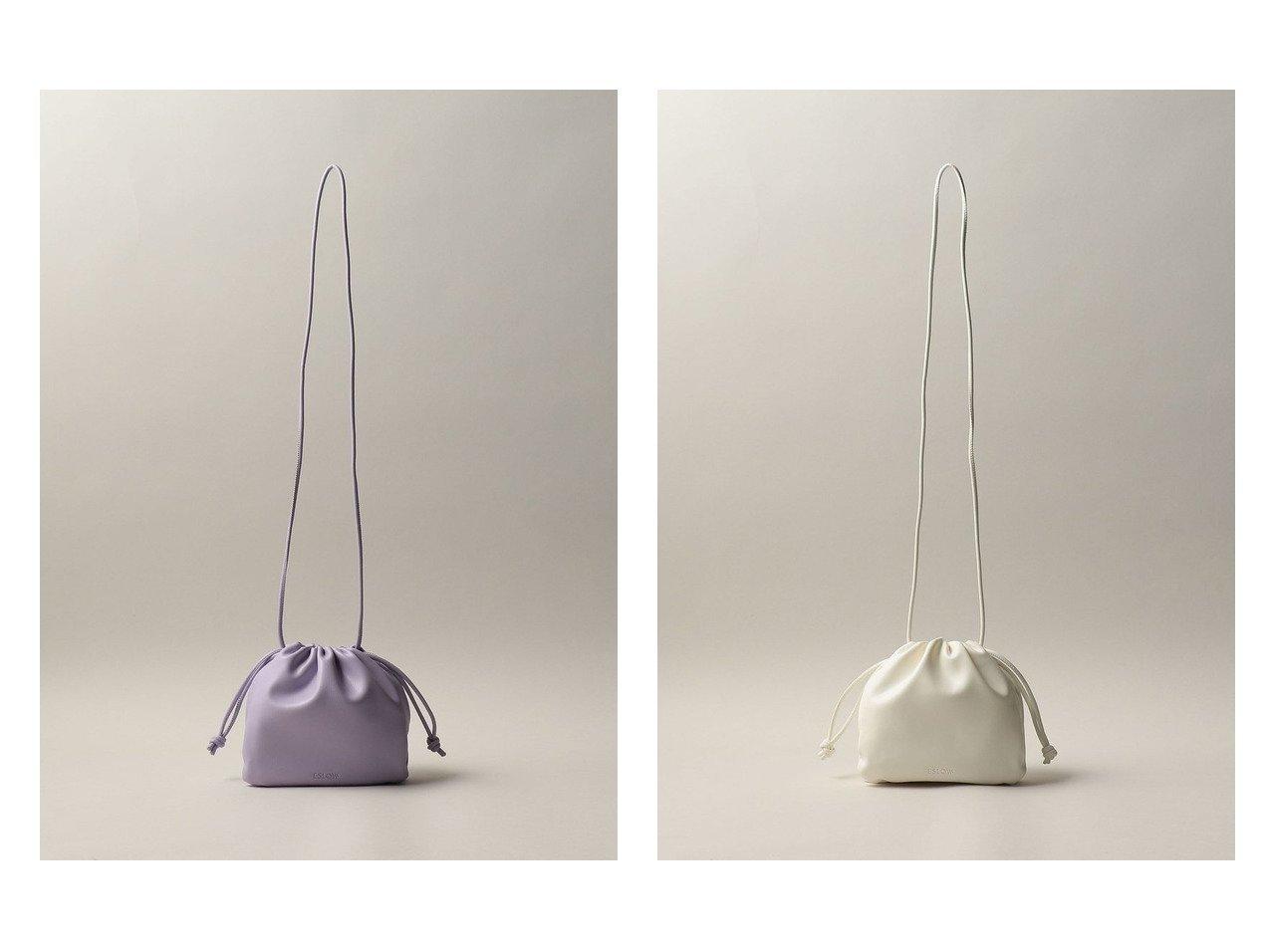【Odette e Odile/オデット エ オディール】のESLOW(エスロー) DRAWSTRING BAG 【バッグ・鞄】おすすめ!人気、トレンド・レディースファッションの通販  おすすめで人気の流行・トレンド、ファッションの通販商品 インテリア・家具・メンズファッション・キッズファッション・レディースファッション・服の通販 founy(ファニー) https://founy.com/ ファッション Fashion レディースファッション WOMEN バッグ Bag A/W・秋冬 AW・Autumn/Winter・FW・Fall-Winter フォルム ラップ 巾着  ID:crp329100000062330