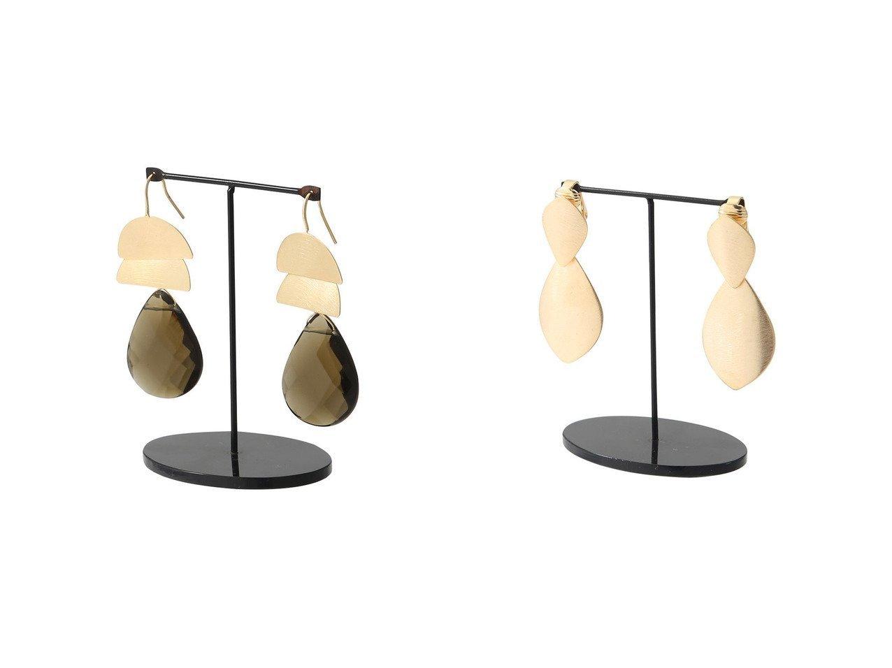 【heliopole/エリオポール】の【ENEIDA FRANCA】プレートXストーンピアス&【ENEIDA FRANCA】プレートクリップ/イヤリング 【アクセサリー・ジュエリー】おすすめ!人気、トレンド・レディースファッションの通販  おすすめで人気の流行・トレンド、ファッションの通販商品 インテリア・家具・メンズファッション・キッズファッション・レディースファッション・服の通販 founy(ファニー) https://founy.com/ ファッション Fashion レディースファッション WOMEN ジュエリー Jewelry リング Rings イヤリング Earrings イヤリング コレクション ストーン パーティ プレート モダン モチーフ リラックス |ID:crp329100000062436