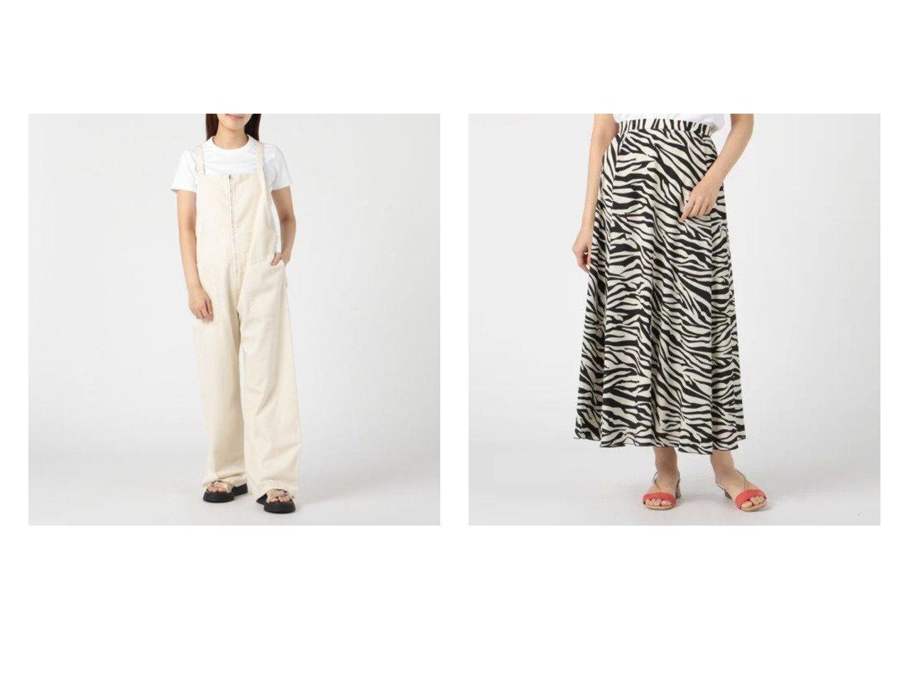 【Munich/ミューニック】の10oz ecru denim salopette&zebra printed crepe dechine flare skirt おすすめ!人気、トレンド・レディースファッションの通販 おすすめで人気の流行・トレンド、ファッションの通販商品 インテリア・家具・メンズファッション・キッズファッション・レディースファッション・服の通販 founy(ファニー) https://founy.com/ ファッション Fashion レディースファッション WOMEN ワンピース Dress オールインワン ワンピース All In One Dress サロペット Salopette スカート Skirt サロペット スクエア ストレート デニム ポケット ワイド 洗える  ID:crp329100000062510