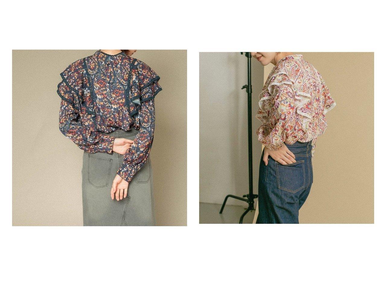 【KBF / URBAN RESEARCH/ケービーエフ】の前後2WAYフリルシャツ おすすめ!人気、トレンド・レディースファッションの通販 おすすめで人気の流行・トレンド、ファッションの通販商品 インテリア・家具・メンズファッション・キッズファッション・レディースファッション・服の通販 founy(ファニー) https://founy.com/ ファッション Fashion レディースファッション WOMEN トップス・カットソー Tops/Tshirt シャツ/ブラウス Shirts/Blouses おすすめ Recommend オリエンタル ガーリー ショート フェミニン フリル プリント ベーシック ボトム レース |ID:crp329100000062525
