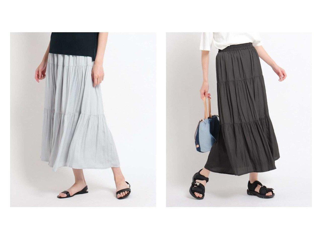 【Dessin/デッサン】の【XS~L・ウエストゴム】ティアードスカート おすすめ!人気、トレンド・レディースファッションの通販 おすすめで人気の流行・トレンド、ファッションの通販商品 インテリア・家具・メンズファッション・キッズファッション・レディースファッション・服の通販 founy(ファニー) https://founy.com/ ファッション Fashion レディースファッション WOMEN スカート Skirt ティアードスカート Tiered Skirts ティアードスカート 切替  ID:crp329100000062558