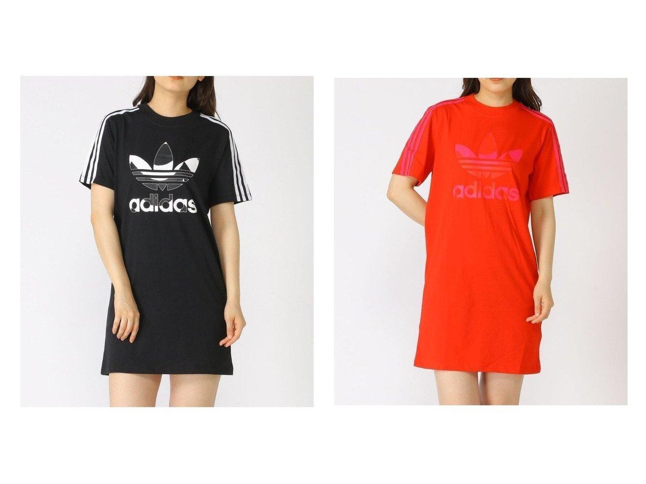 【adidas Originals/アディダス オリジナルス】のマリメッコ トレフォイル プリント インフィル Tシャツ ワンピース アディダスオリジナルス おすすめ!人気、トレンド・レディースファッションの通販 おすすめで人気の流行・トレンド、ファッションの通販商品 インテリア・家具・メンズファッション・キッズファッション・レディースファッション・服の通販 founy(ファニー) https://founy.com/ ファッション Fashion レディースファッション WOMEN ワンピース Dress シャツワンピース Shirt Dresses キャラクター ジャージー スポーツ チュニック 人気 プリント 半袖 ミックス  ID:crp329100000062564