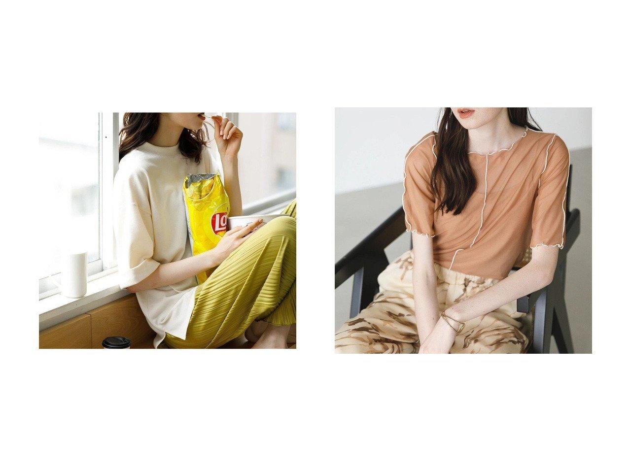 【KOE/コエ】のSETシアーチュールプルオーバー&キャミソール&ミニ裏毛モックネック半袖Tシャツ おすすめ!人気、トレンド・レディースファッションの通販 おすすめで人気の流行・トレンド、ファッションの通販商品 インテリア・家具・メンズファッション・キッズファッション・レディースファッション・服の通販 founy(ファニー) https://founy.com/ ファッション Fashion レディースファッション WOMEN トップス・カットソー Tops/Tshirt シャツ/ブラウス Shirts/Blouses ロング / Tシャツ T-Shirts カットソー Cut and Sewn キャミソール / ノースリーブ No Sleeves プルオーバー Pullover 送料無料 Free Shipping カットソー ビッグ モックネック 半袖 インナー キャミソール センター フェミニン  ID:crp329100000062584