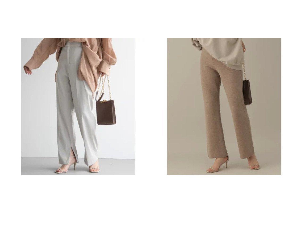【Chaos/カオス】のミストラチネ スリットパンツ&ラマーリバー ニットパンツ 【パンツ】おすすめ!人気、トレンド・レディースファッションの通販 おすすめで人気の流行・トレンド、ファッションの通販商品 インテリア・家具・メンズファッション・キッズファッション・レディースファッション・服の通販 founy(ファニー) https://founy.com/ ファッション Fashion レディースファッション WOMEN パンツ Pants キュプラ ストレッチ スリット おすすめ Recommend スウェット セットアップ ダブル フェイス |ID:crp329100000062617