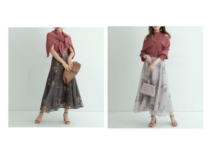 【Mystrada/マイストラーダ】のオパールフラワーフレアスカート 【スカート】おすすめ!人気、トレンド・レディースファッションの通販 おすすめ人気トレンドファッション通販アイテム 人気、トレンドファッション・服の通販 founy(ファニー) ファッション Fashion レディースファッション WOMEN スカート Skirt Aライン/フレアスカート Flared A-Line Skirts NEW・新作・新着・新入荷 New Arrivals エレガント ギャザー ダウン フレア プリント モチーフ ロマンティック |ID:crp329100000062631
