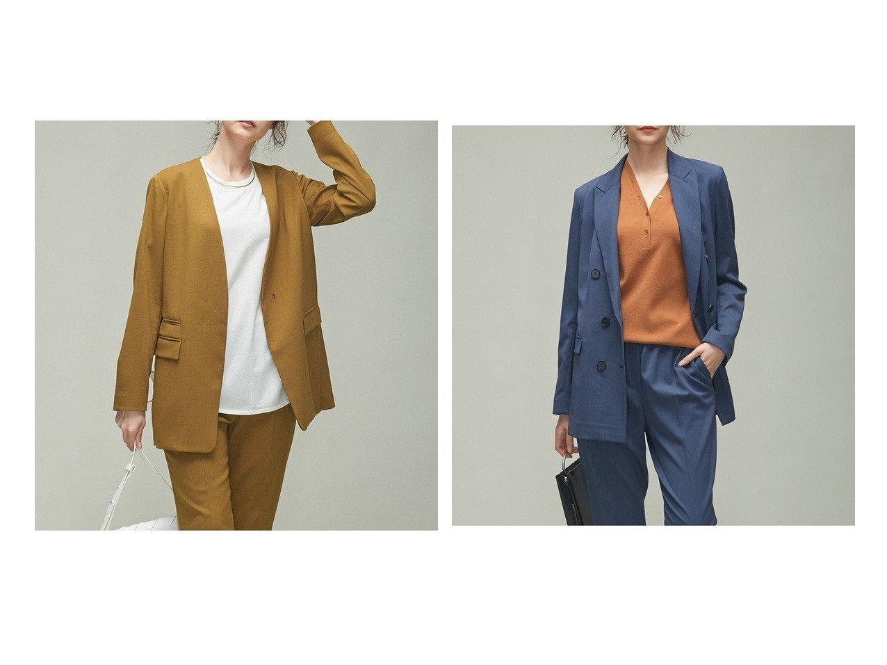 【iCB/アイシービー】のウールストレッチ ノーカラージャケット&ウールストレッチツイル ダブル前ジャケット 【アウター】おすすめ!人気、トレンド・レディースファッションの通販 おすすめで人気の流行・トレンド、ファッションの通販商品 インテリア・家具・メンズファッション・キッズファッション・レディースファッション・服の通販 founy(ファニー) https://founy.com/ ファッション Fashion レディースファッション WOMEN アウター Coat Outerwear ジャケット Jackets ノーカラージャケット No Collar Leather Jackets テーラードジャケット Tailored Jackets 洗える カーディガン ジャケット ストレッチ ダブル ツイル パターン フィット フロント A/W・秋冬 AW・Autumn/Winter・FW・Fall-Winter 2021年 2021 2021-2022秋冬・A/W AW・Autumn/Winter・FW・Fall-Winter・2021-2022 送料無料 Free Shipping |ID:crp329100000062659
