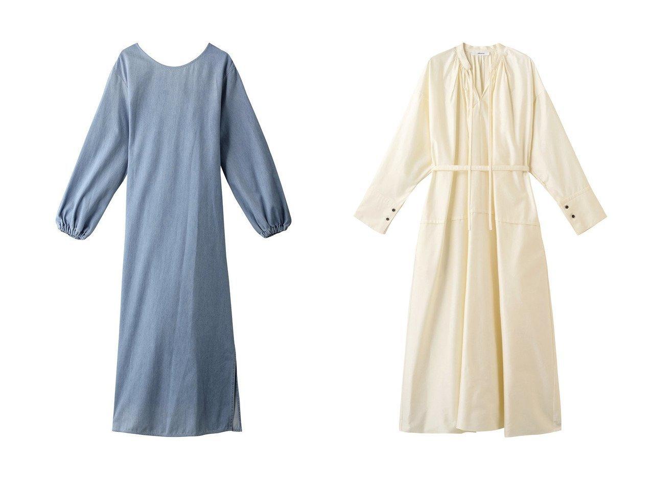 【KALNA/カルナ】のデニムワンピース&【ebure/エブール】のハイカウントコットンサテン ウエストマークワンピース 【ワンピース・ドレス】おすすめ!人気、トレンド・レディースファッションの通販 おすすめで人気の流行・トレンド、ファッションの通販商品 インテリア・家具・メンズファッション・キッズファッション・レディースファッション・服の通販 founy(ファニー) https://founy.com/ ファッション Fashion レディースファッション WOMEN ワンピース Dress チュニック Tunic 2020年 2020 2020-2021秋冬・A/W AW・Autumn/Winter・FW・Fall-Winter/2020-2021 2021年 2021 2021-2022秋冬・A/W AW・Autumn/Winter・FW・Fall-Winter・2021-2022 A/W・秋冬 AW・Autumn/Winter・FW・Fall-Winter チュニック デニム パーティ マキシ リボン ロング |ID:crp329100000062674