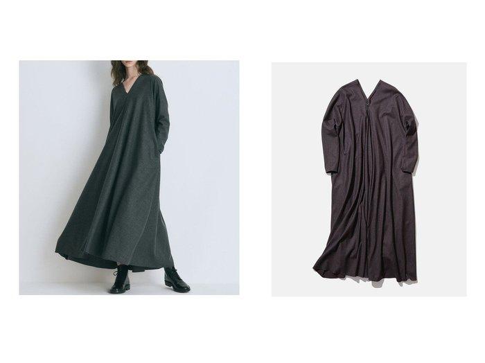 【ATON/エイトン】のSTRETCH SAXONY フロントギャザードレス 【ワンピース・ドレス】おすすめ!人気、トレンド・レディースファッションの通販 おすすめ人気トレンドファッション通販アイテム 人気、トレンドファッション・服の通販 founy(ファニー) ファッション Fashion レディースファッション WOMEN ワンピース Dress ドレス Party Dresses 送料無料 Free Shipping ストレッチ ドレス ドレープ ロング |ID:crp329100000062682