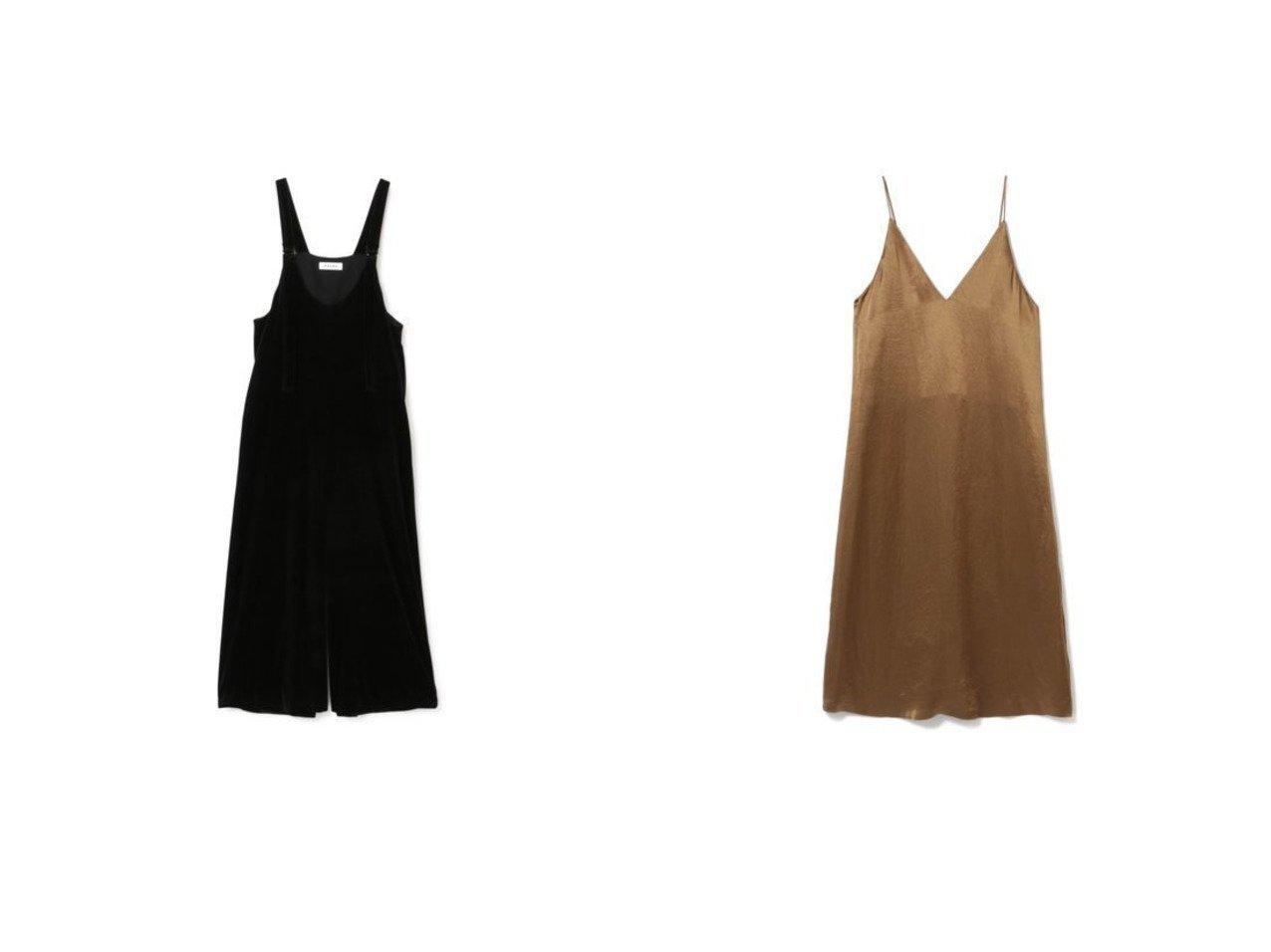 【SACRA/サクラ】のベロアコンビネゾン/TRIACE VELOUR&サテンキャミワンピース/ACETATE SATIN 【ワンピース・ドレス】おすすめ!人気、トレンド・レディースファッションの通販 おすすめで人気の流行・トレンド、ファッションの通販商品 インテリア・家具・メンズファッション・キッズファッション・レディースファッション・服の通販 founy(ファニー) https://founy.com/ ファッション Fashion レディースファッション WOMEN トップス・カットソー Tops/Tshirt ベロア Velour ワンピース Dress オールインワン ワンピース All In One Dress サロペット Salopette ドレス Party Dresses キャミワンピース No Sleeve Dresses コンビネゾン ベロア ワイド キャミワンピース サテン シンプル ドレス ノースリーブ バランス フォーマル ラップ ヴィンテージ |ID:crp329100000062686