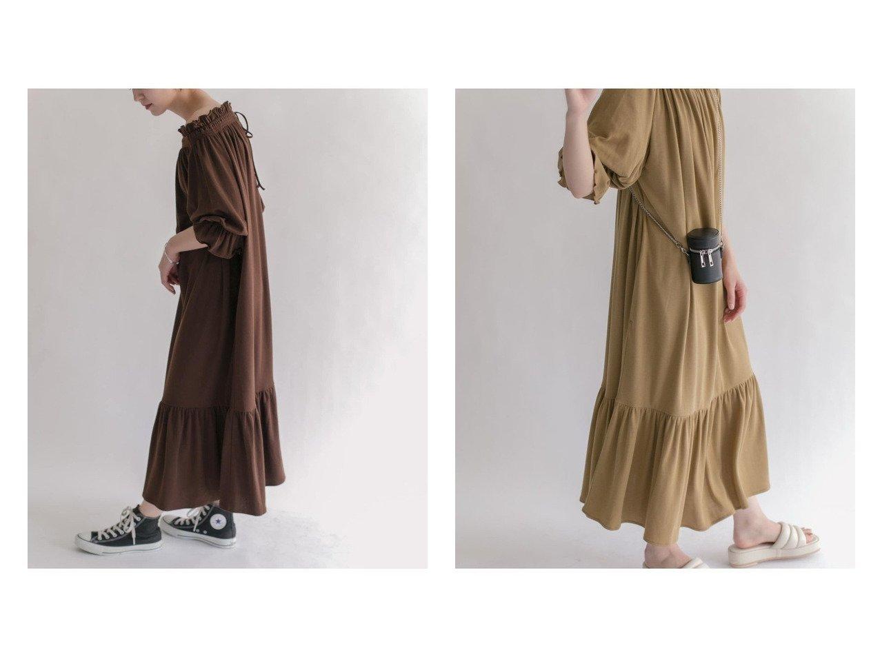 【KBF / URBAN RESEARCH/ケービーエフ】の【WEB限定】シャーリングギャザーボリュームワンピース 【ワンピース・ドレス】おすすめ!人気、トレンド・レディースファッションの通販 おすすめで人気の流行・トレンド、ファッションの通販商品 インテリア・家具・メンズファッション・キッズファッション・レディースファッション・服の通販 founy(ファニー) https://founy.com/ ファッション Fashion レディースファッション WOMEN ワンピース Dress オフショルダー カットソー ギャザー シューズ トレンド バランス フリル 切替 |ID:crp329100000062691