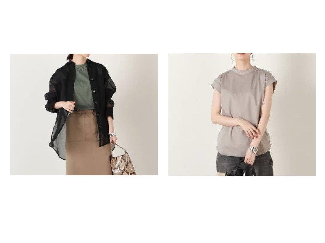【NOLLEY'S sophi/ノーリーズソフィー】のオーガンジーシャツ&ハイネックプルオーバーカットソー 【トップス・カットソー】おすすめ!人気、トレンド・レディースファッションの通販 おすすめで人気の流行・トレンド、ファッションの通販商品 インテリア・家具・メンズファッション・キッズファッション・レディースファッション・服の通販 founy(ファニー) https://founy.com/ ファッション Fashion レディースファッション WOMEN トップス・カットソー Tops/Tshirt シャツ/ブラウス Shirts/Blouses ロング / Tシャツ T-Shirts プルオーバー Pullover カットソー Cut and Sewn 2021年 2021 2021-2022秋冬・A/W AW・Autumn/Winter・FW・Fall-Winter・2021-2022 A/W・秋冬 AW・Autumn/Winter・FW・Fall-Winter オーガンジー ロング 春 Spring 秋 Autumn/Fall インナー カットソー シンプル ジャケット 半袖 |ID:crp329100000062709