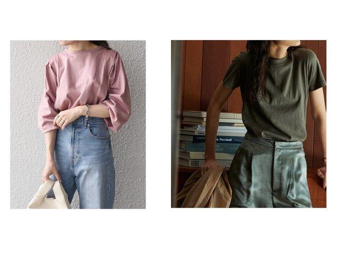 【Demi-Luxe BEAMS/デミルクス ビームス】のAK+ スラブコットン Tシャツ&【SHIPS/シップス フォー ウィメン】の【WEB限定】タックデザインロングTEE 【トップス・カットソー】おすすめ!人気、トレンド・レディースファッションの通販 おすすめ人気トレンドファッション通販アイテム 人気、トレンドファッション・服の通販 founy(ファニー) ファッション Fashion レディースファッション WOMEN トップス・カットソー Tops/Tshirt シャツ/ブラウス Shirts/Blouses ロング / Tシャツ T-Shirts カットソー Cut and Sewn カットソー コンパクト ネップ パターン ベーシック メンズ 定番 Standard |ID:crp329100000062718