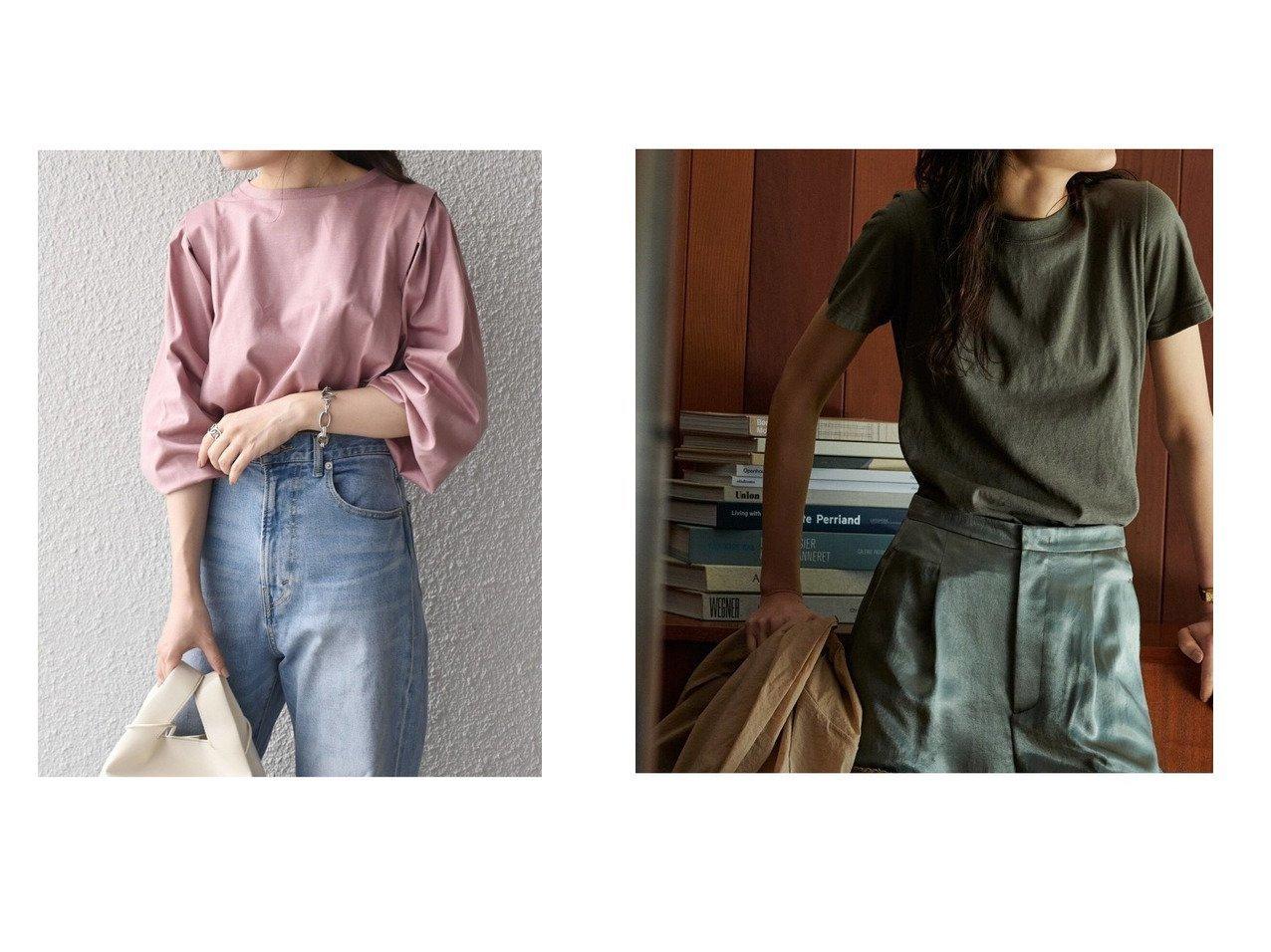 【Demi-Luxe BEAMS/デミルクス ビームス】のAK+ スラブコットン Tシャツ&【SHIPS/シップス フォー ウィメン】の【WEB限定】タックデザインロングTEE 【トップス・カットソー】おすすめ!人気、トレンド・レディースファッションの通販 おすすめで人気の流行・トレンド、ファッションの通販商品 インテリア・家具・メンズファッション・キッズファッション・レディースファッション・服の通販 founy(ファニー) https://founy.com/ ファッション Fashion レディースファッション WOMEN トップス・カットソー Tops/Tshirt シャツ/ブラウス Shirts/Blouses ロング / Tシャツ T-Shirts カットソー Cut and Sewn カットソー コンパクト ネップ パターン ベーシック メンズ 定番 Standard |ID:crp329100000062718