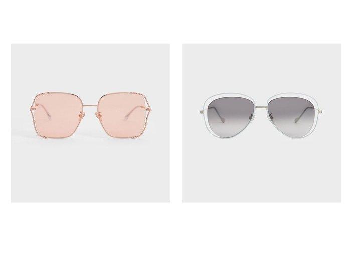 【CHARLES & KEITH/チャールズ アンド キース】の【2021 SUMMER】ティンテッド バタフライサングラス Tinted Butterfly Sunglasses&【2021 SUMMER】カットアウト アビエーターサングラス Cut-Out Aviator Sunglasses おすすめ!人気、トレンド・レディースファッションの通販  おすすめ人気トレンドファッション通販アイテム インテリア・キッズ・メンズ・レディースファッション・服の通販 founy(ファニー) https://founy.com/ ファッション Fashion レディースファッション WOMEN サングラス/メガネ Glasses アクセサリー 春 Spring サングラス チェーン バタフライ フィット 2021年 2021 S/S・春夏 SS・Spring/Summer 2021春夏・S/S SS/Spring/Summer/2021 夏 Summer |ID:crp329100000062818