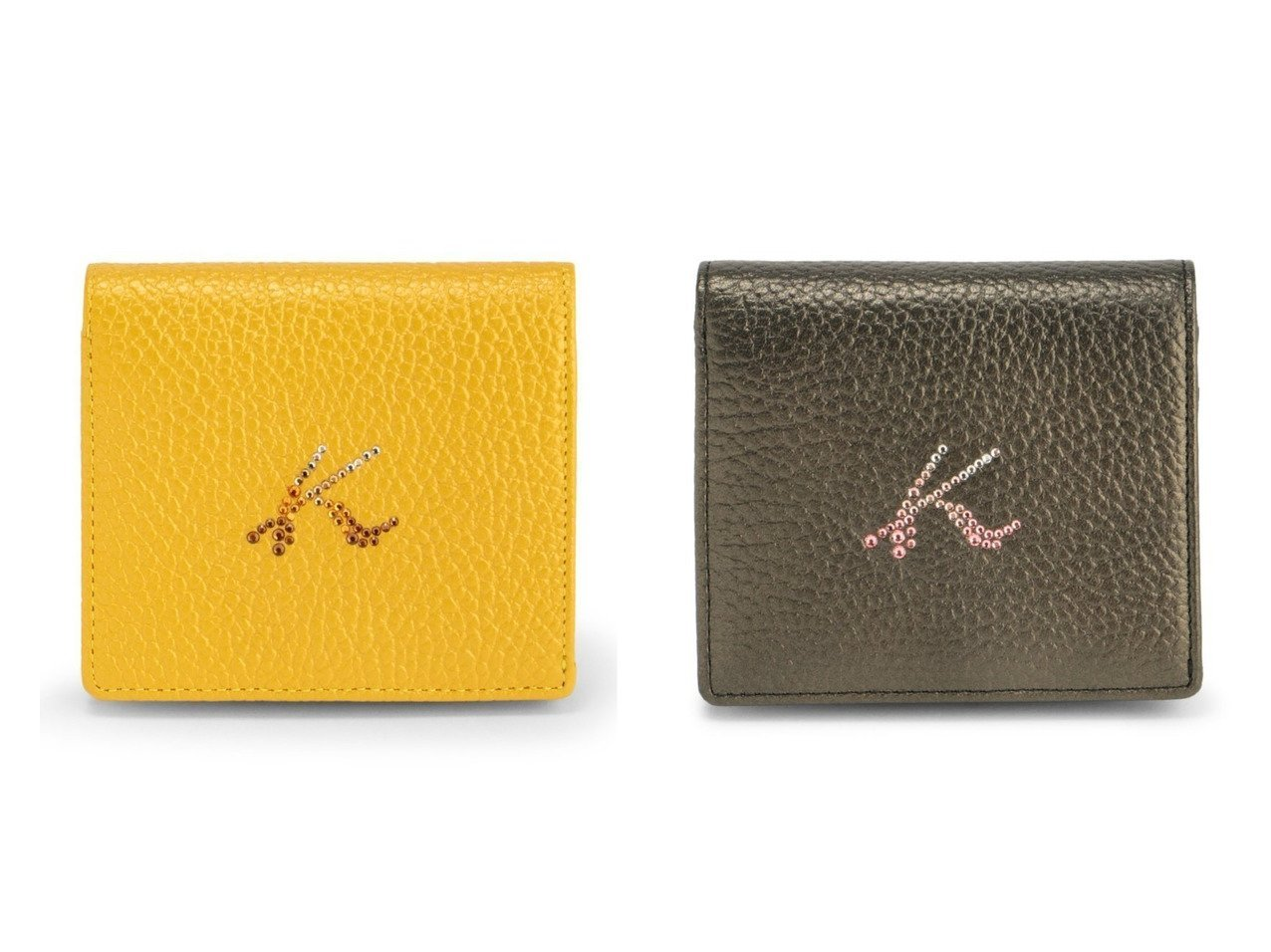 【KitamuraK2/キタムラケイツウ】のキタムラ牛革ボックス型二つ折り財布 U-72 おすすめ!人気、トレンド・レディースファッションの通販  おすすめで人気の流行・トレンド、ファッションの通販商品 インテリア・家具・メンズファッション・キッズファッション・レディースファッション・服の通販 founy(ファニー) https://founy.com/ ファッション Fashion レディースファッション WOMEN 財布 Wallets グラデーション ストーン ボックス 財布  ID:crp329100000062880