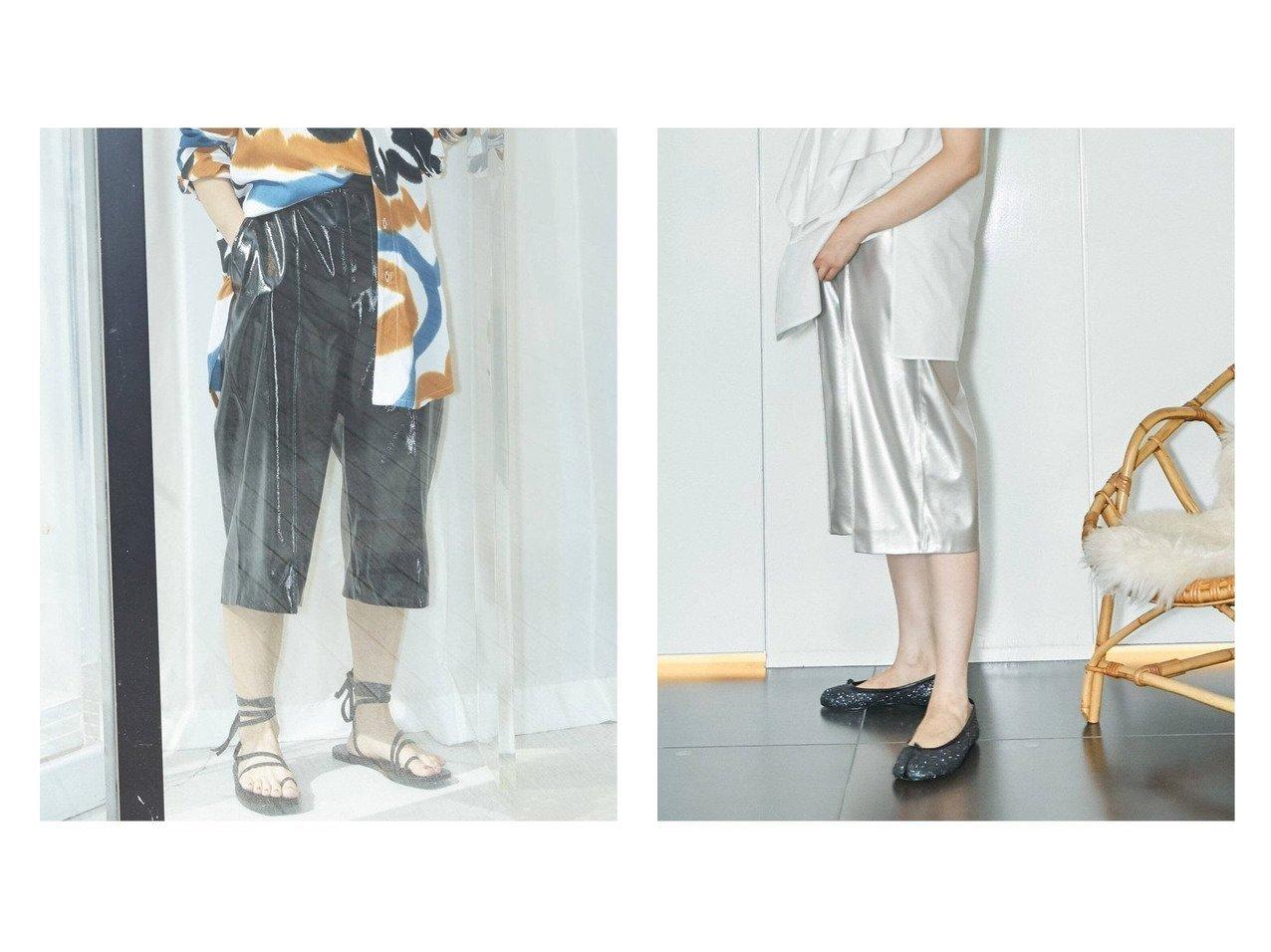 【CITYSHOP/シティーショップ】のFAUX LEATHER HALF パンツ おすすめ!人気、トレンド・レディースファッションの通販  おすすめで人気の流行・トレンド、ファッションの通販商品 インテリア・家具・メンズファッション・キッズファッション・レディースファッション・服の通販 founy(ファニー) https://founy.com/ ファッション Fashion レディースファッション WOMEN パンツ Pants 2021年 2021 2021春夏・S/S SS/Spring/Summer/2021 S/S・春夏 SS・Spring/Summer サンダル シルバー ジーンズ ハーフ バランス フェイクレザー ベーシック ワイド 夏 Summer  ID:crp329100000062881