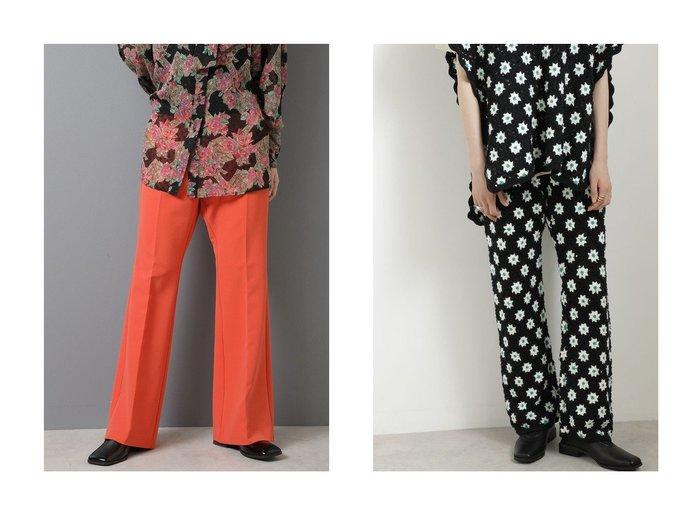 【ROSE BUD/ローズバッド】のセンタープレスフレアパンツ&クロシェニットパンツ 【パンツ】おすすめ!人気、トレンド・レディースファッションの通販  おすすめ人気トレンドファッション通販アイテム 人気、トレンドファッション・服の通販 founy(ファニー) ファッション Fashion レディースファッション WOMEN パンツ Pants 2020年 2020 2020-2021秋冬・A/W AW・Autumn/Winter・FW・Fall-Winter/2020-2021 2021年 2021 2021-2022秋冬・A/W AW・Autumn/Winter・FW・Fall-Winter・2021-2022 A/W・秋冬 AW・Autumn/Winter・FW・Fall-Winter おすすめ Recommend ストレッチ センター フレア セットアップ モチーフ ヴィンテージ  ID:crp329100000062913
